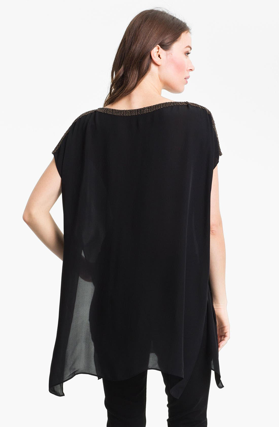 Alternate Image 2  - Eileen Fisher Beaded Silk Georgette Tunic