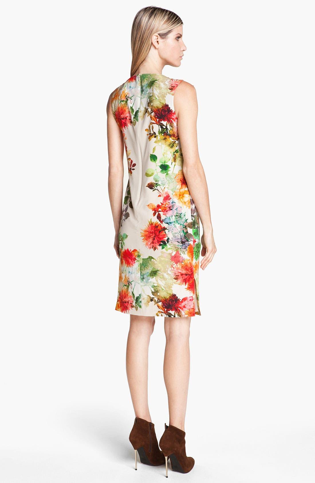 Alternate Image 2  - St. John Collection Verbena Print Silk Dress
