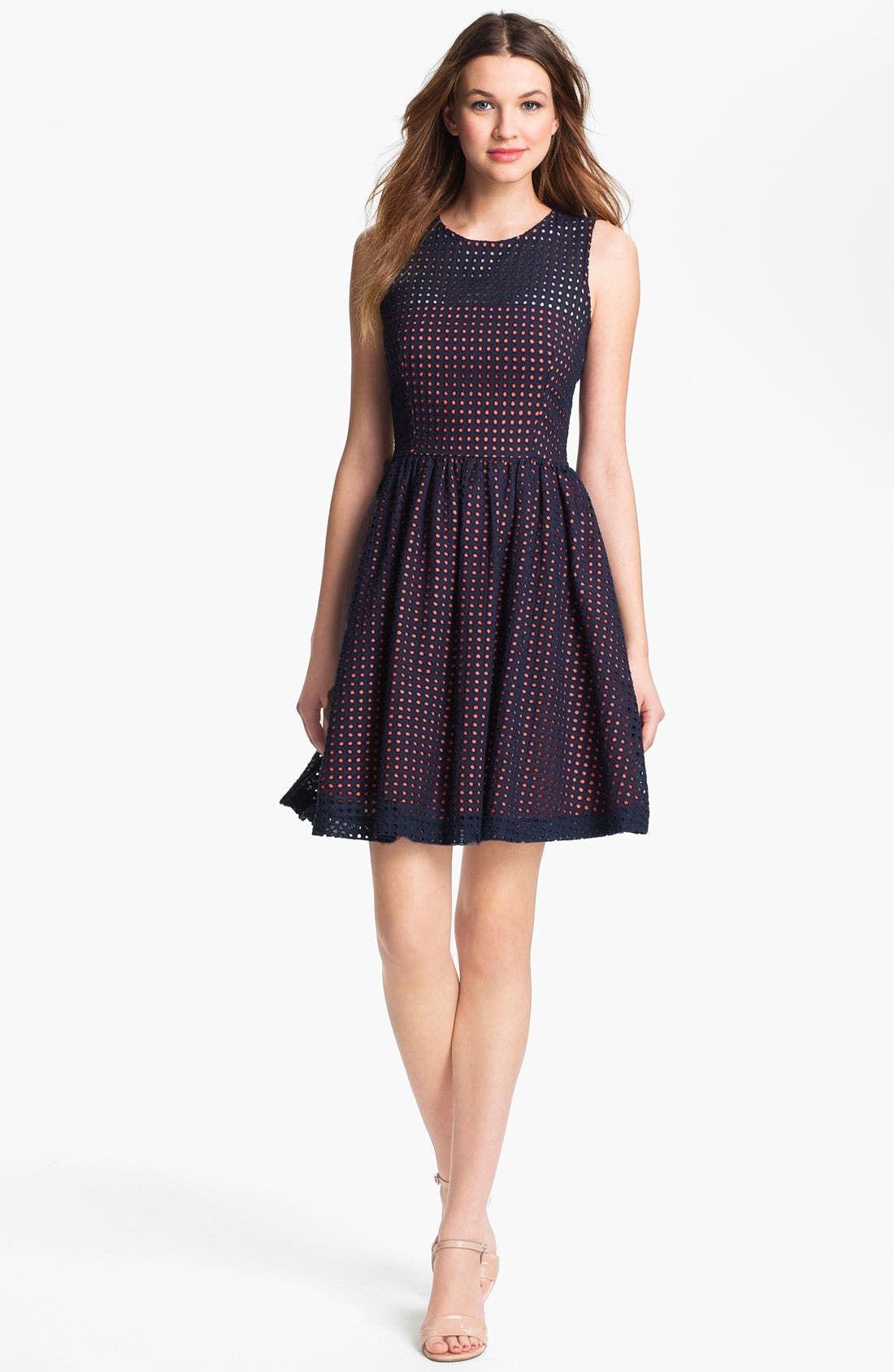 Alternate Image 1 Selected - French Connection Dot Fit & Flare Dress