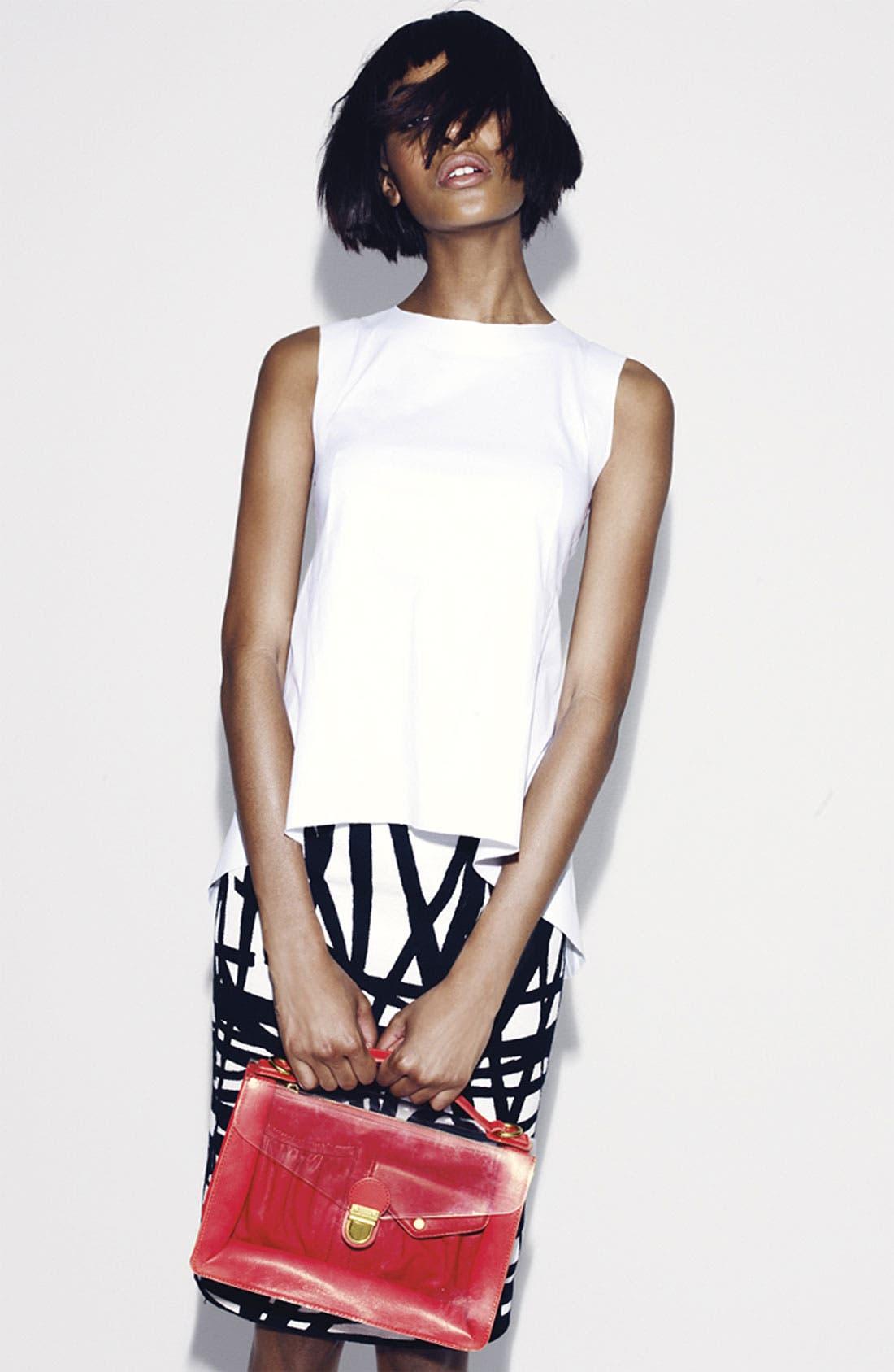 Alternate Image 8  - Lafayette 148 New York 'Profound Stroke' Print Skirt