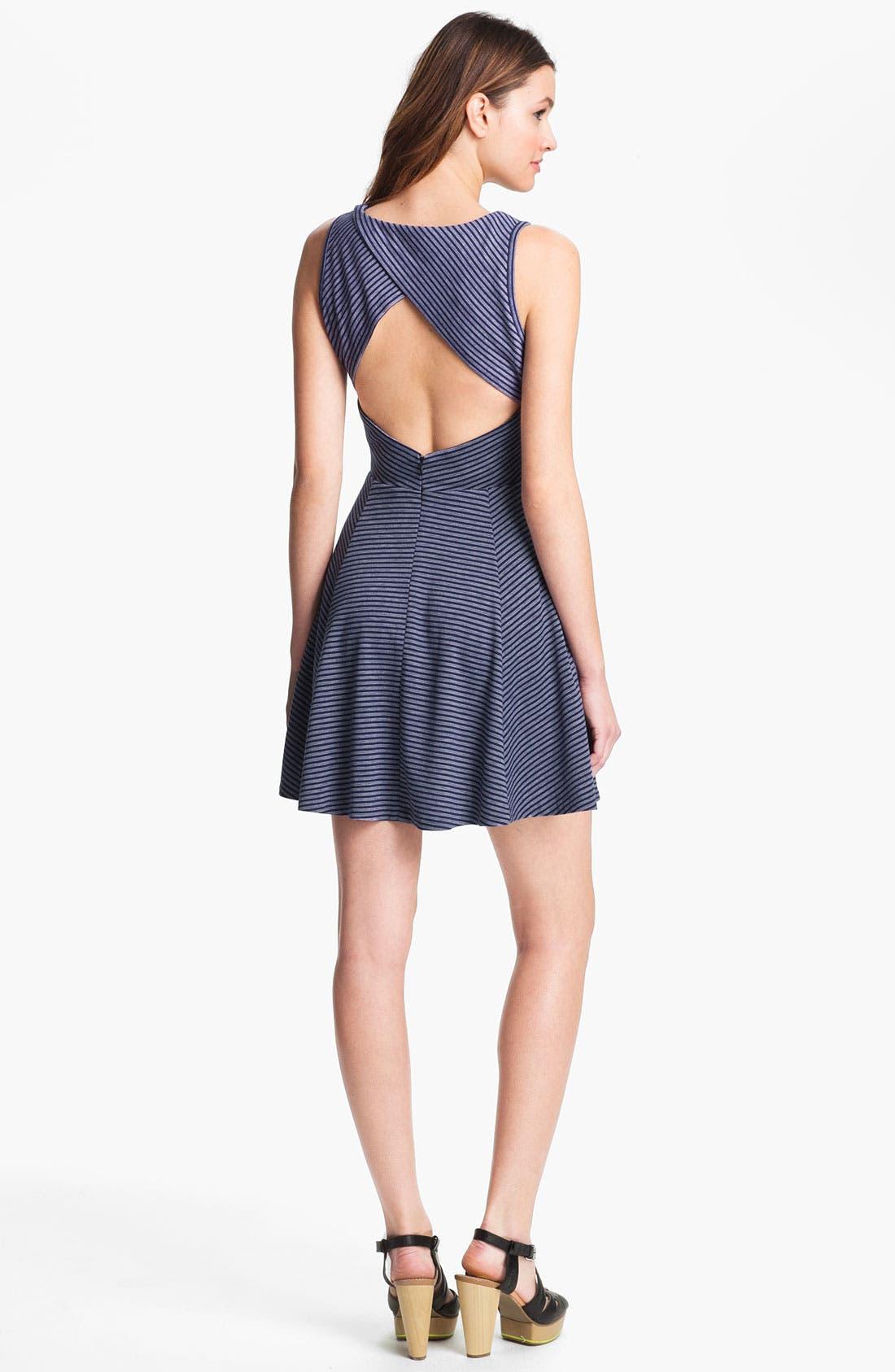 Alternate Image 2  - BB Dakota 'Dielia' Stripe Fit & Flare Dress