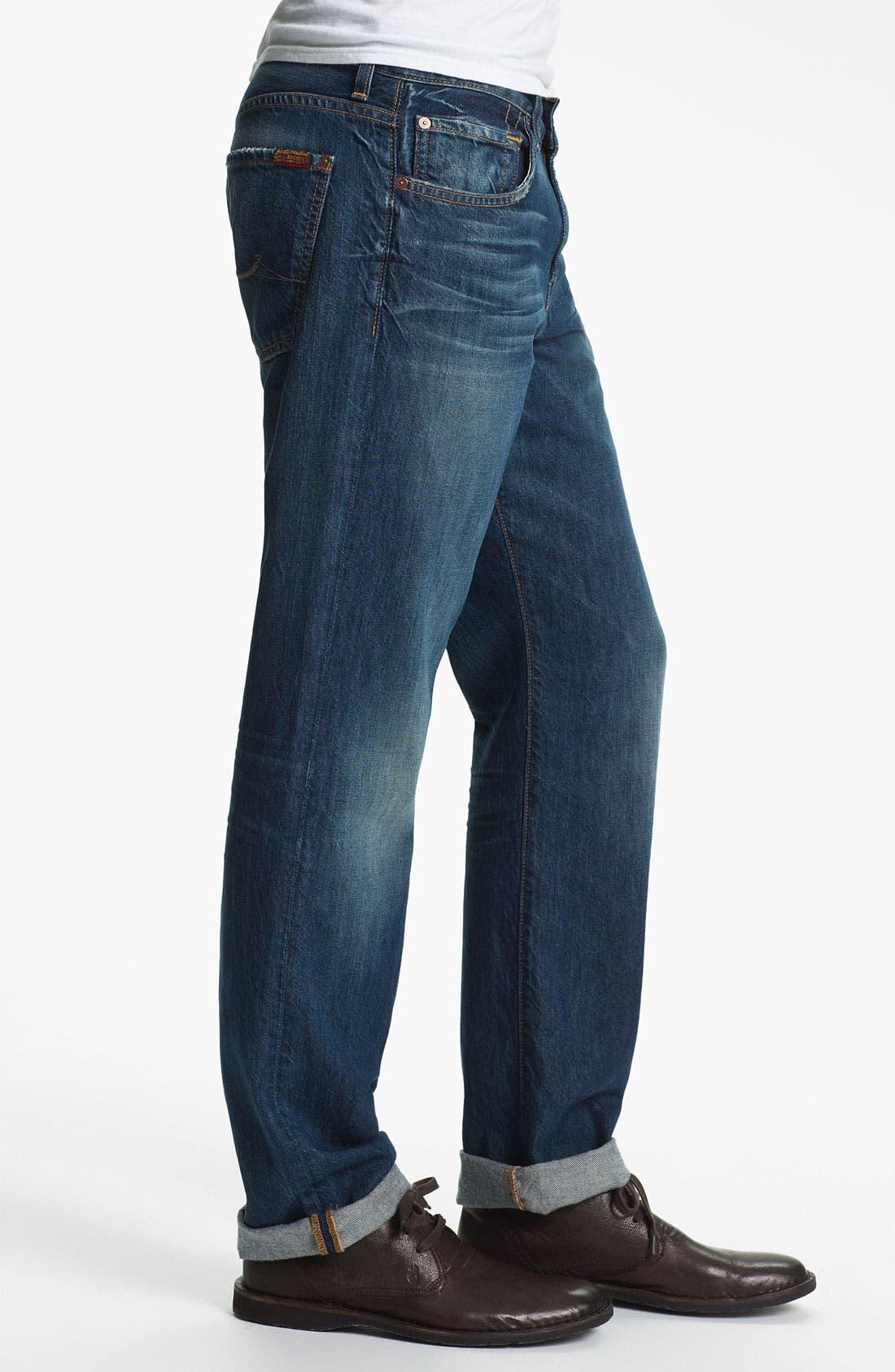 Alternate Image 3  - 7 For All Mankind® 'Carsen' Straight Leg Jeans (Juniper Bay)