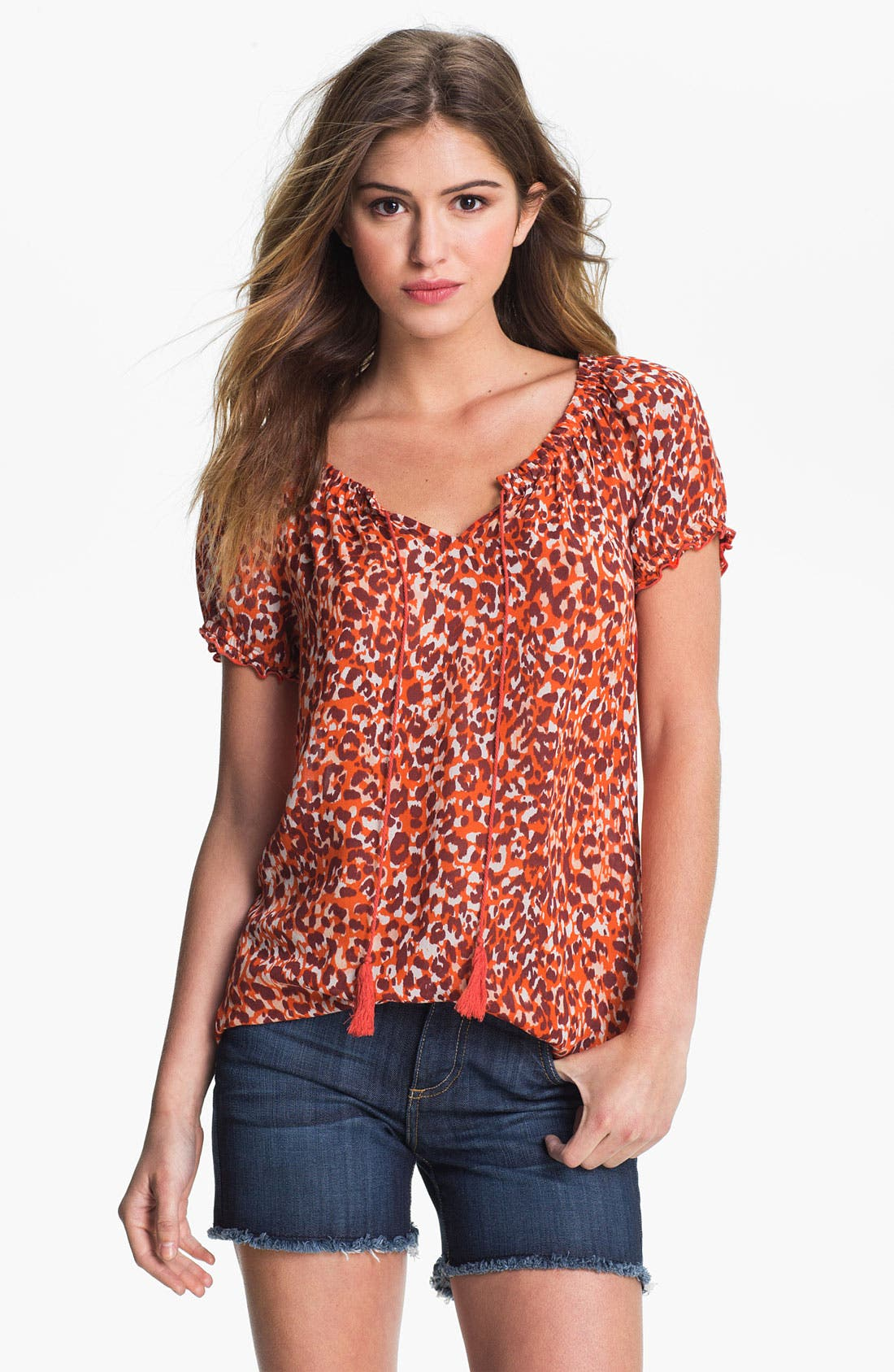 Alternate Image 1 Selected - Lucky Brand 'Safi - Mayan Cheetah' Blouse (Online Exclusive)