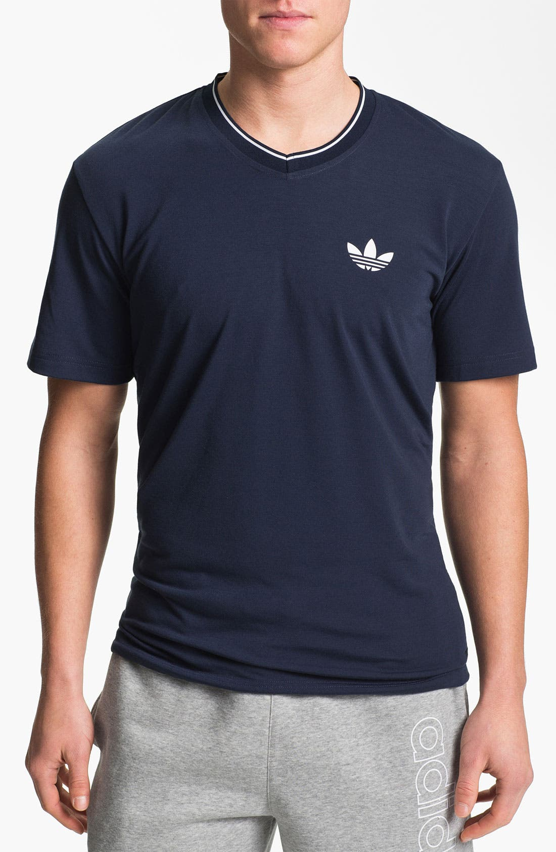 Alternate Image 1 Selected - adidas 'Ultimate' V-Neck T-Shirt