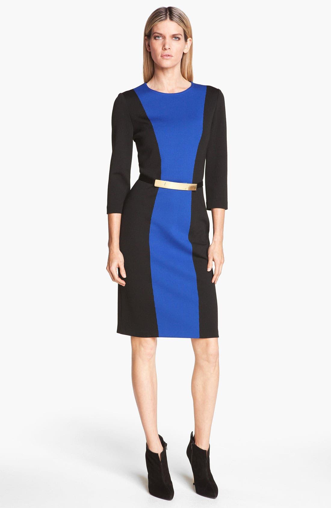 Main Image - St. John Collection Colorblock Milano Knit Dress