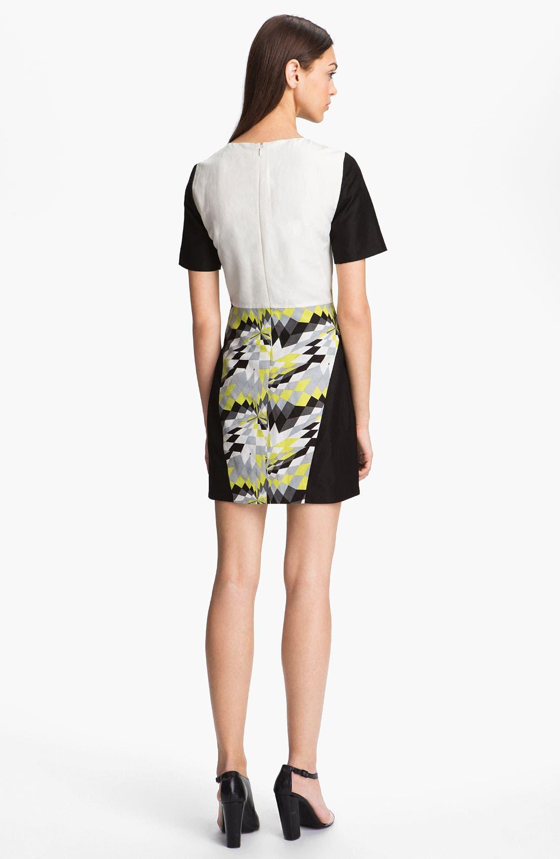 Alternate Image 2  - Tibi 'Isosceles' Print Colorblock Dress