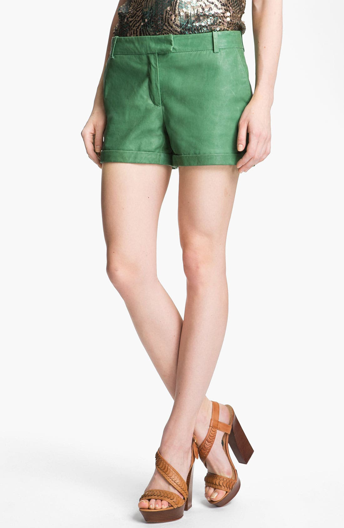 Alternate Image 1 Selected - Rachel Zoe 'Justin' Leather Shorts