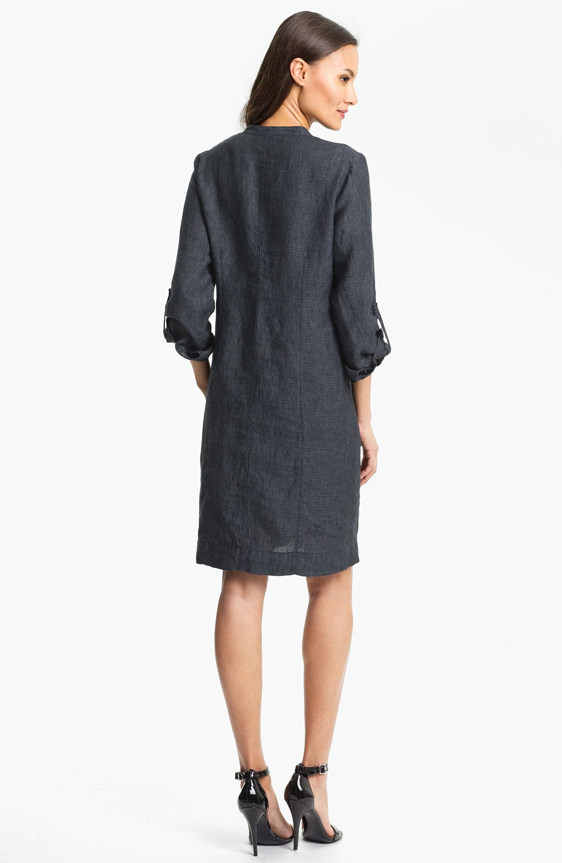 Alternate Image 2  - Eileen Fisher Banded Collar Shirtdress (Online Only)