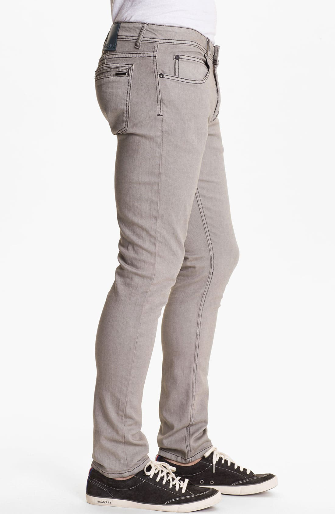 Alternate Image 3  - Ezekiel 'Chopper' Slim Straight Leg Jeans (Light Grey)