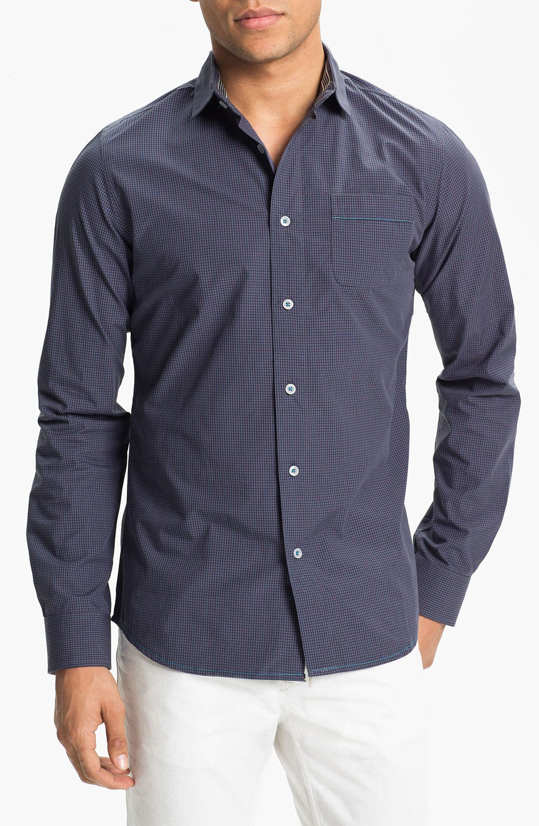 Main Image - Descendant of Thieves Check Woven Shirt