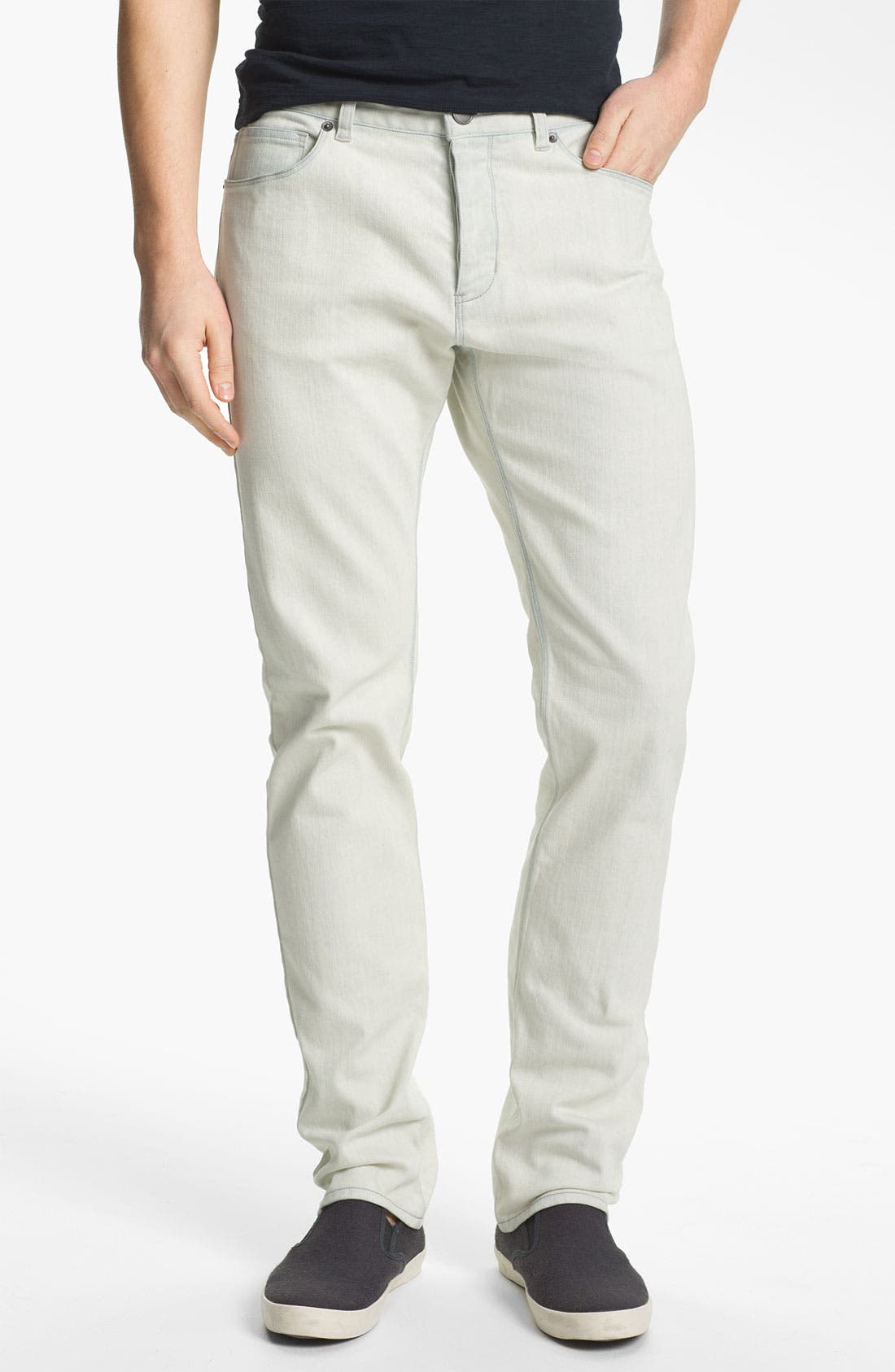 Alternate Image 1 Selected - Theory 'Raffi Burliegh' Slim Leg Jeans (Bleached Out)
