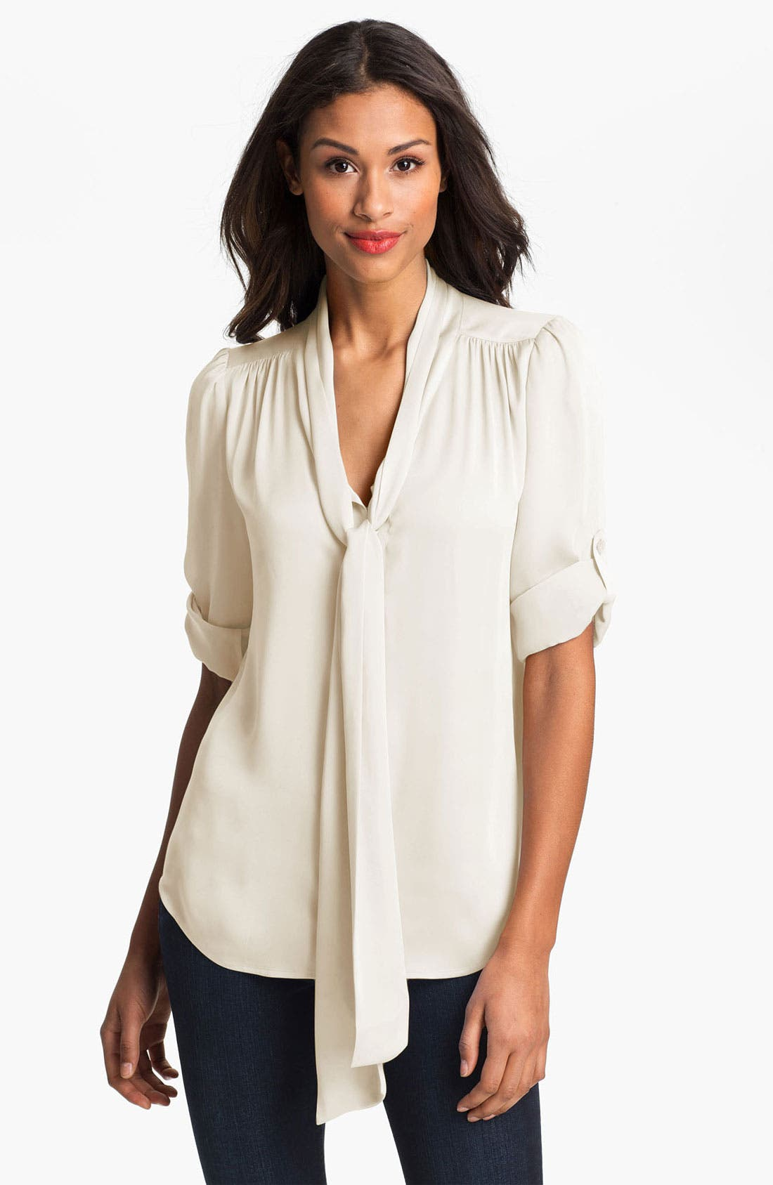Alternate Image 1 Selected - Vince Camuto Tie Neck Blouse