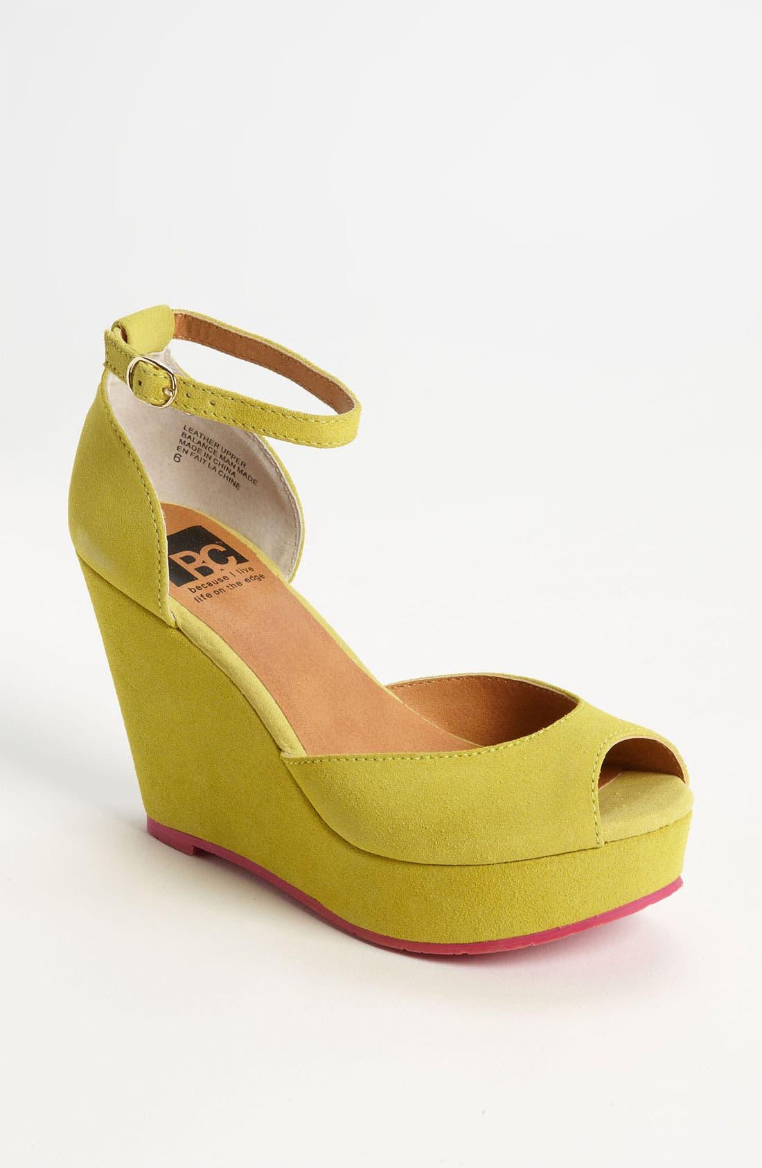 Alternate Image 1 Selected - BC Footwear 'Bright Idea' Wedge Sandal