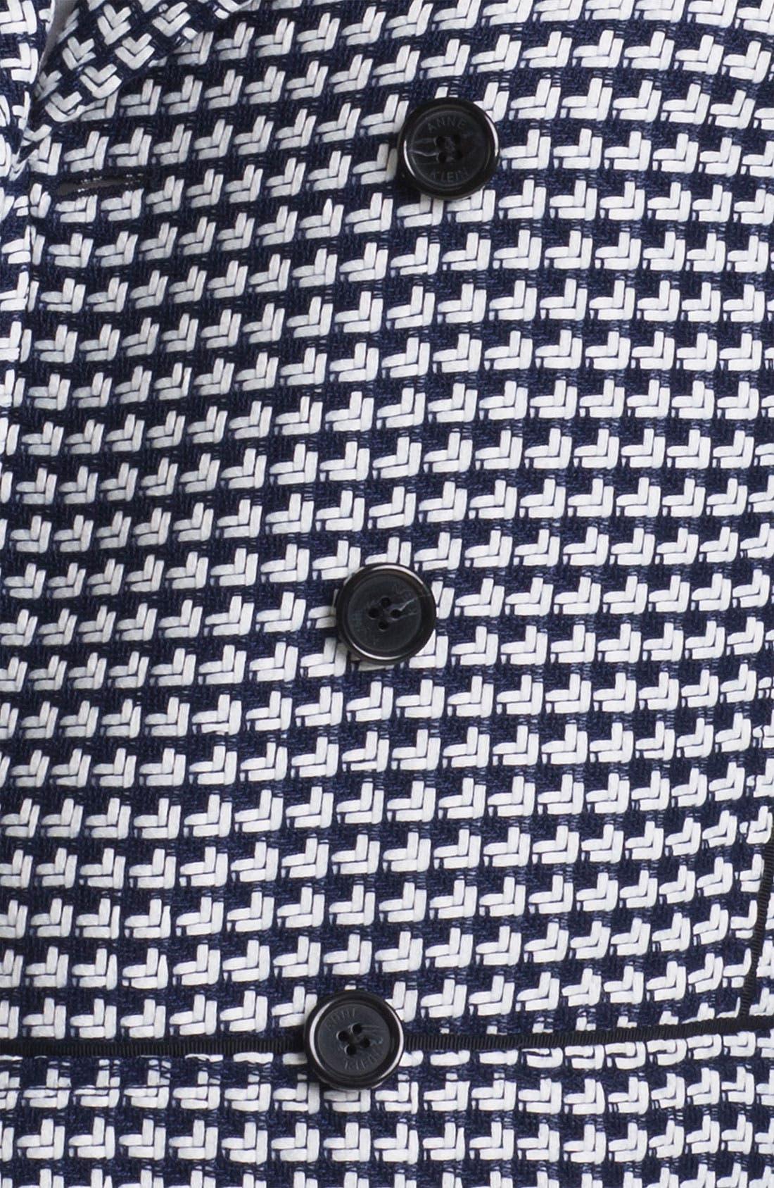 Alternate Image 3  - Anne Klein Ribbon Tweed Peacoat