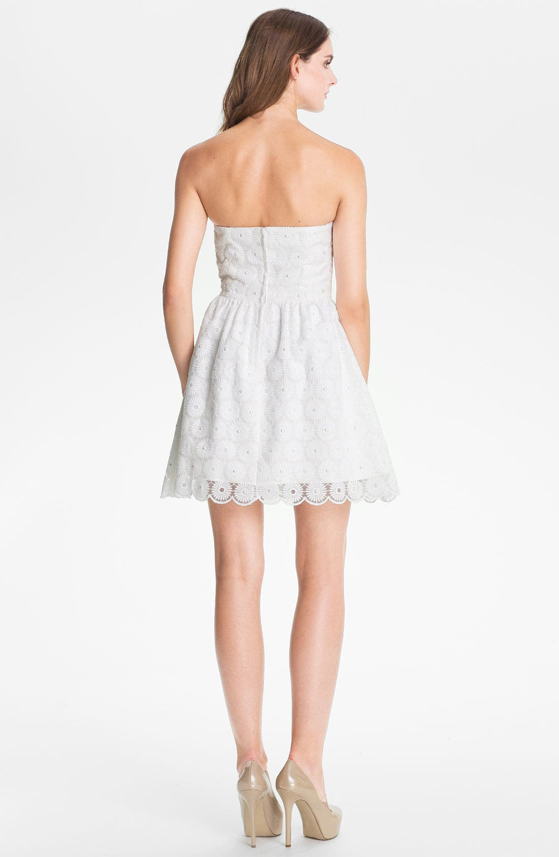 Alternate Image 2  - Lilly Pulitzer® 'Payton' Pearl Embellished Lace Fit & Flare Dress