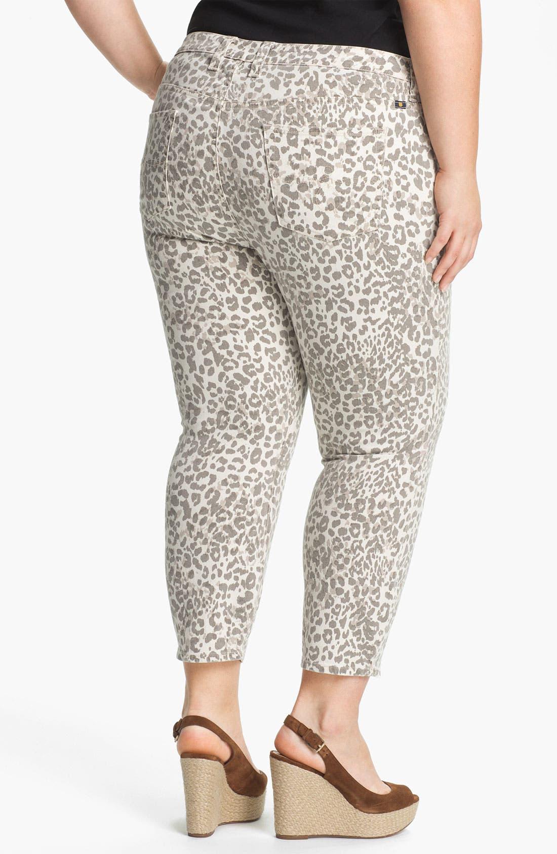 Alternate Image 2  - Lucky Brand 'Ginger' Print Capri Jeans (Plus Size)