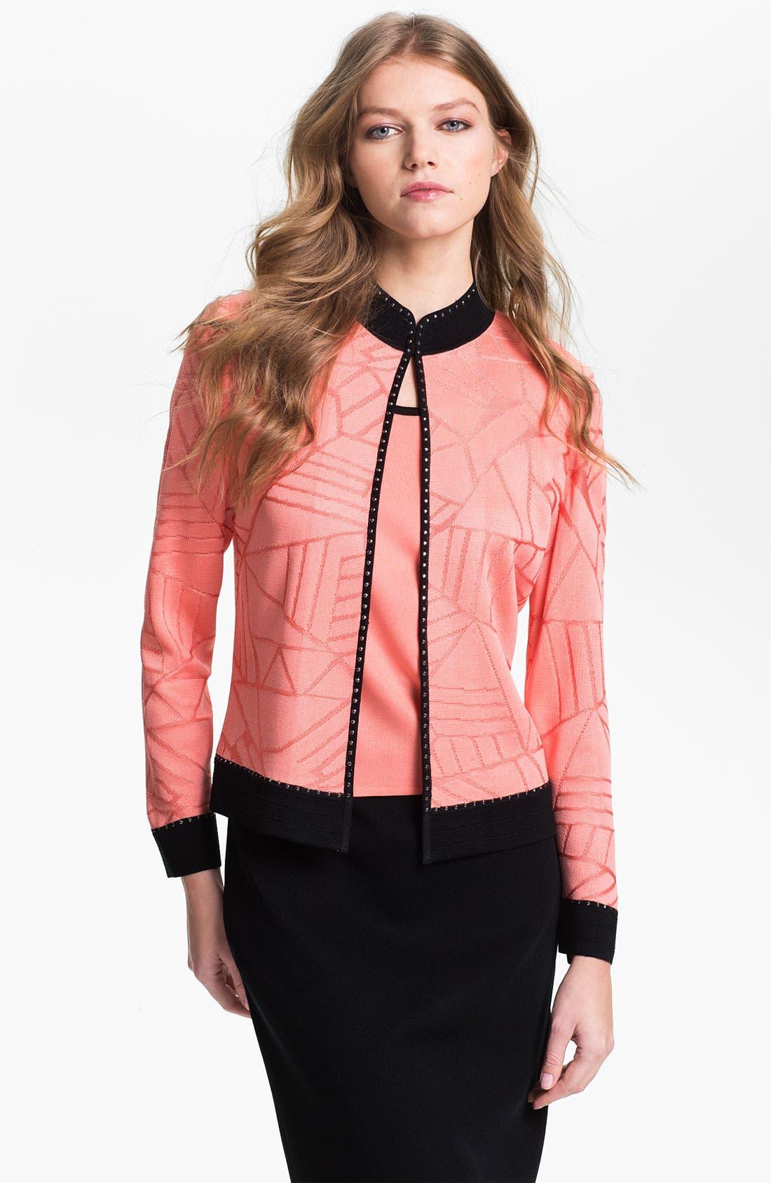 Main Image - Ming Wang Embellished Stand Collar Jacket