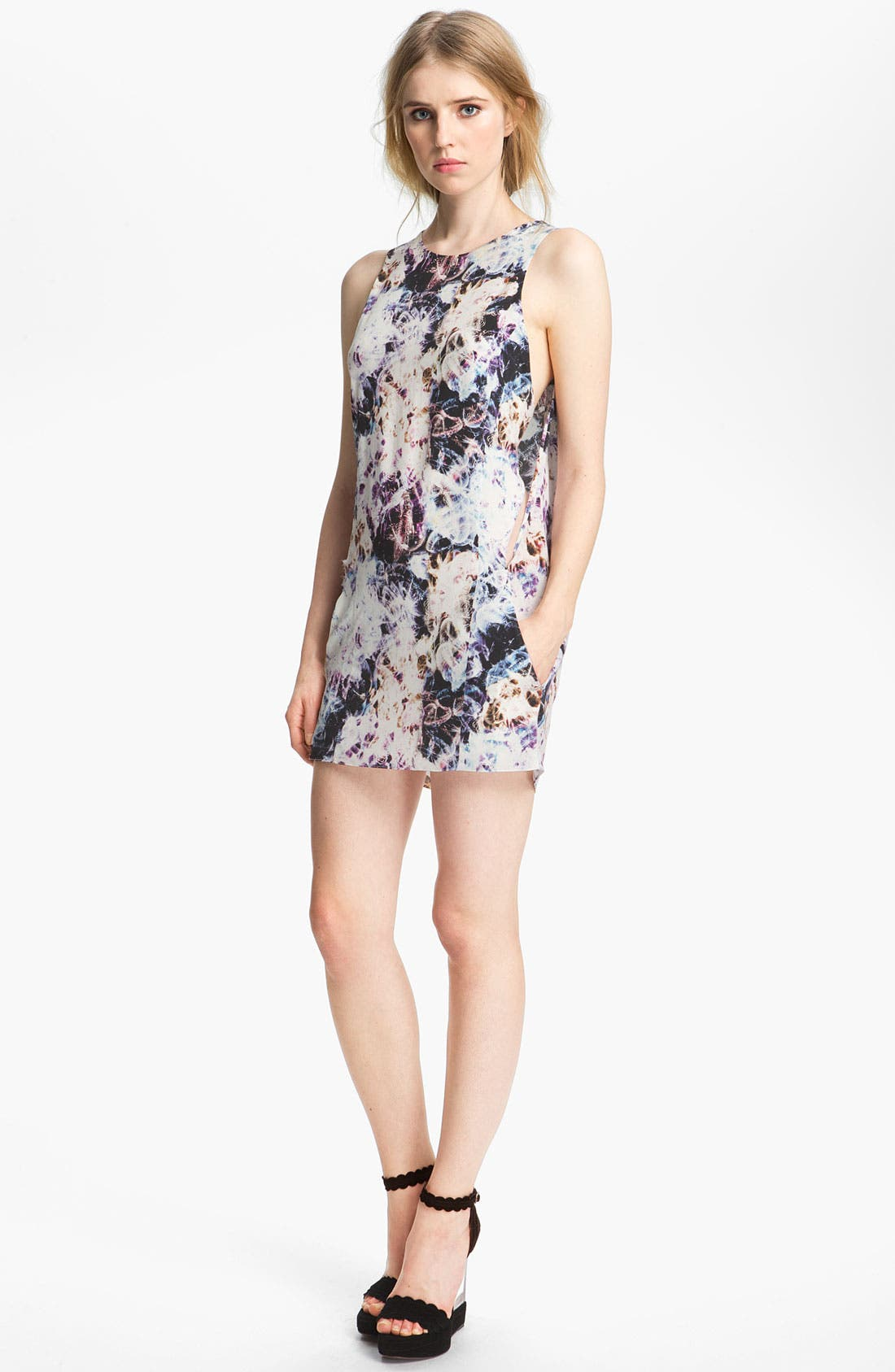 Main Image - Theyskens' Theory 'Dorchid Ilight' Print Silk Dress
