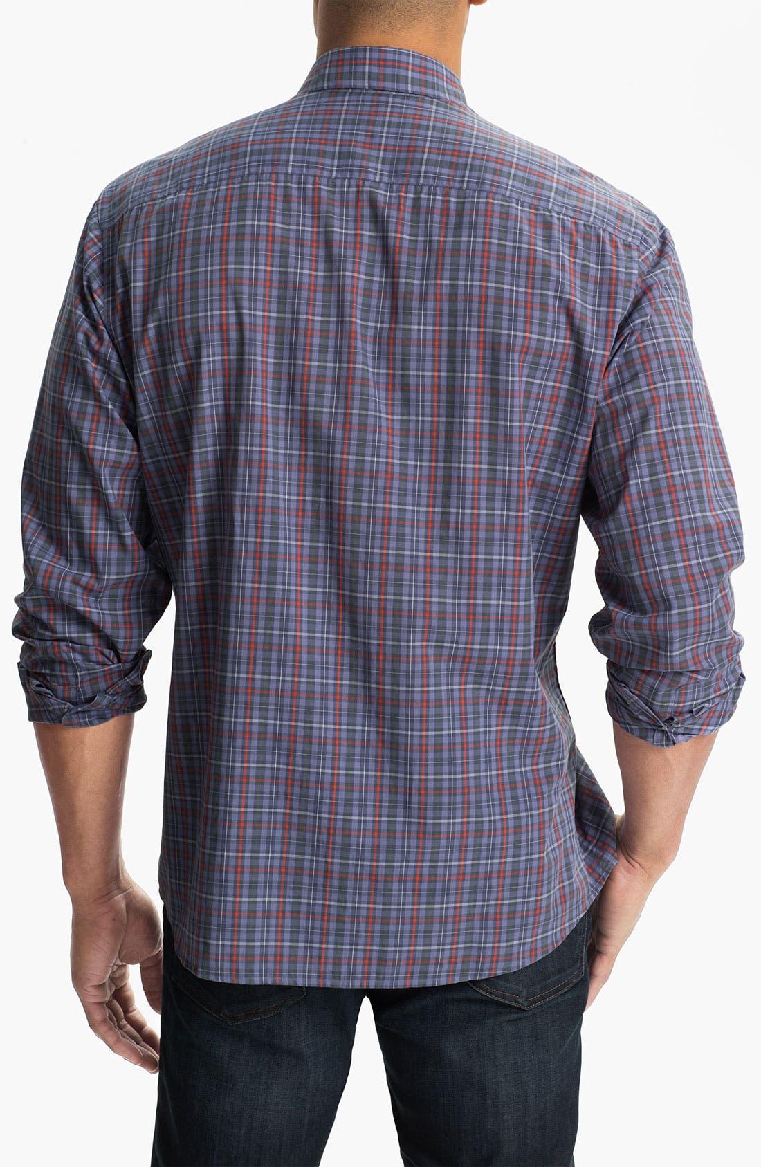 Alternate Image 2  - Cutter & Buck 'Kent Plaid' Regular Fit Sport Shirt (Big & Tall)