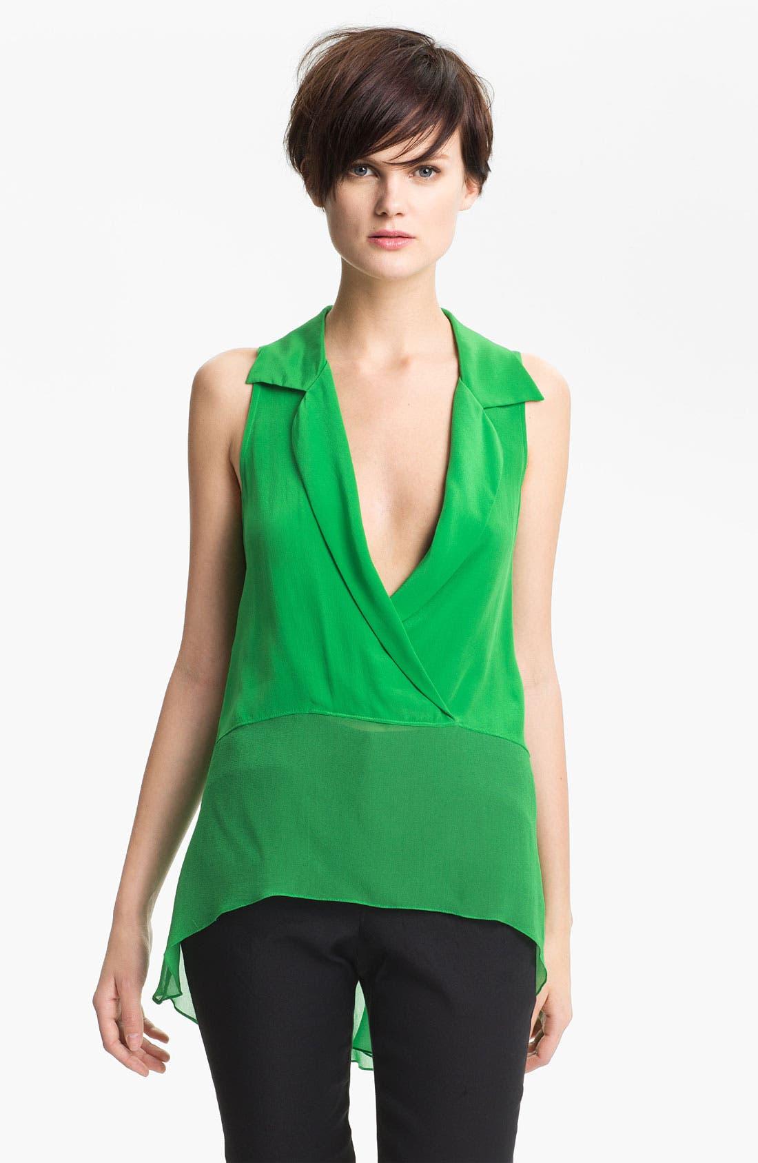 Alternate Image 2  - Tracy Reese Silk Surplice Shirt