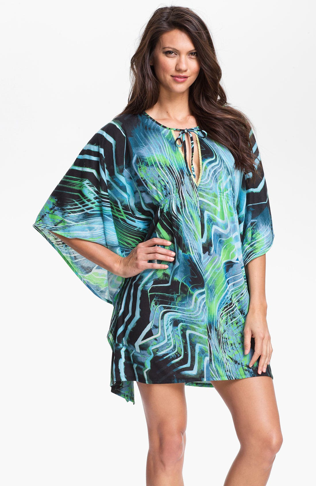 Alternate Image 1 Selected - On Gossamer 'Whisper' Knit Caftan