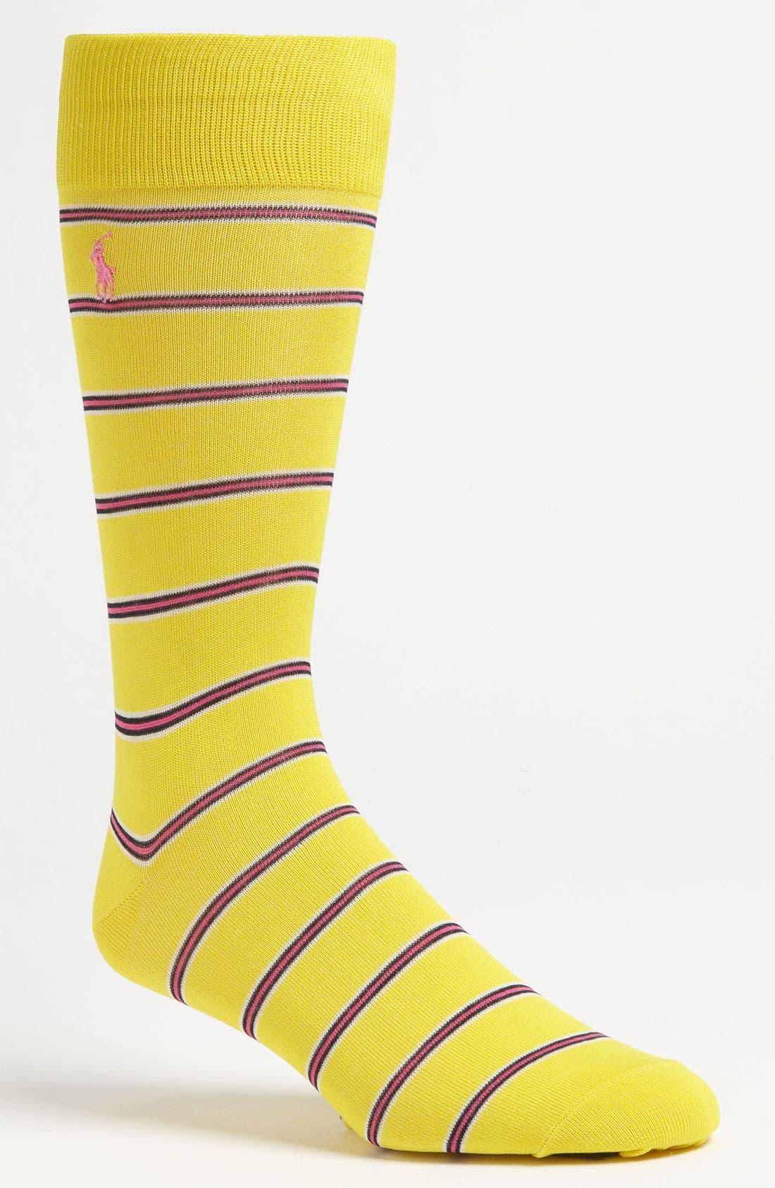 Alternate Image 1 Selected - Polo Ralph Lauren Stripe Socks