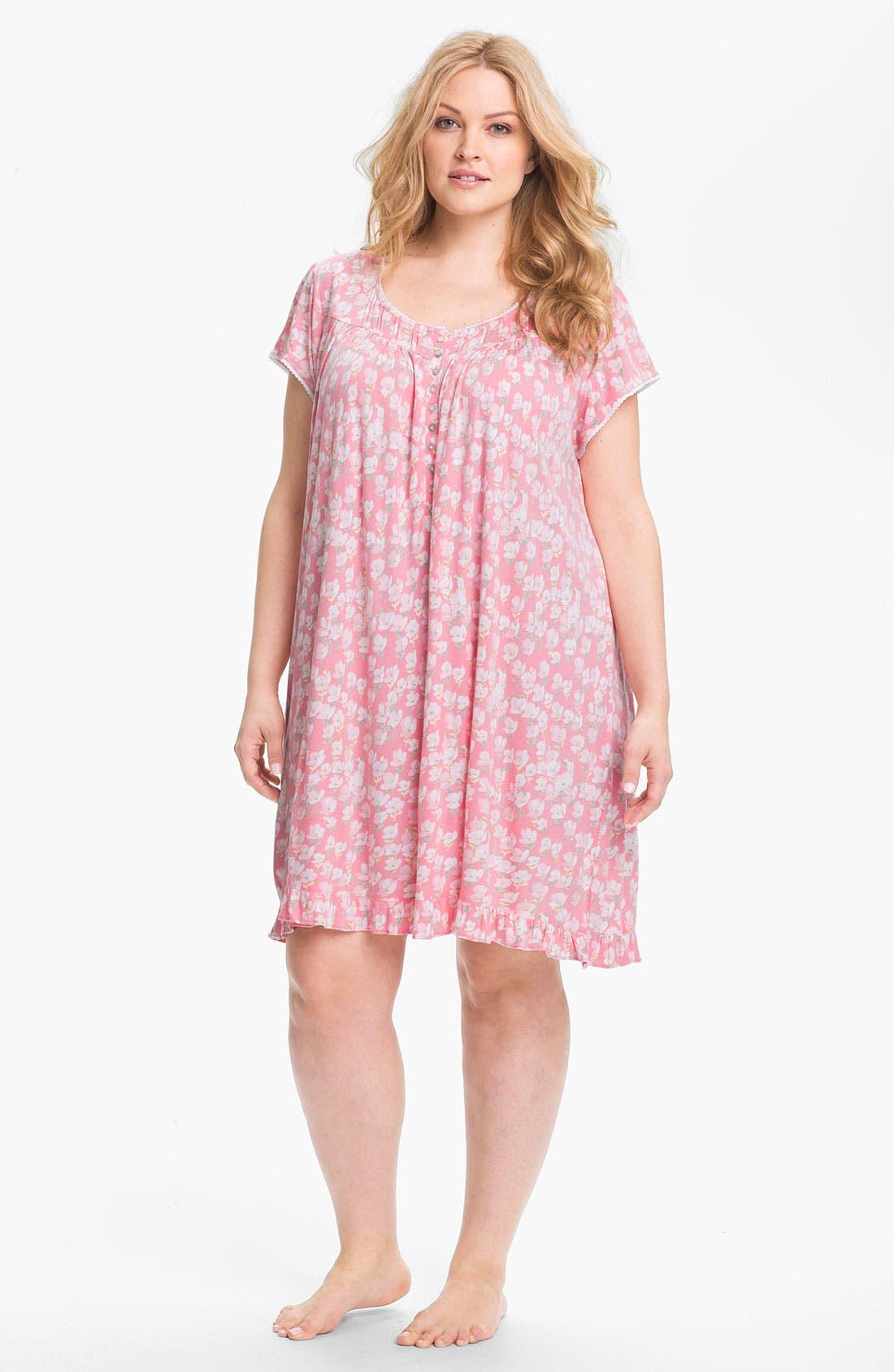 Main Image - Eileen West 'Radiant Spirit' Short Nightgown (Plus)