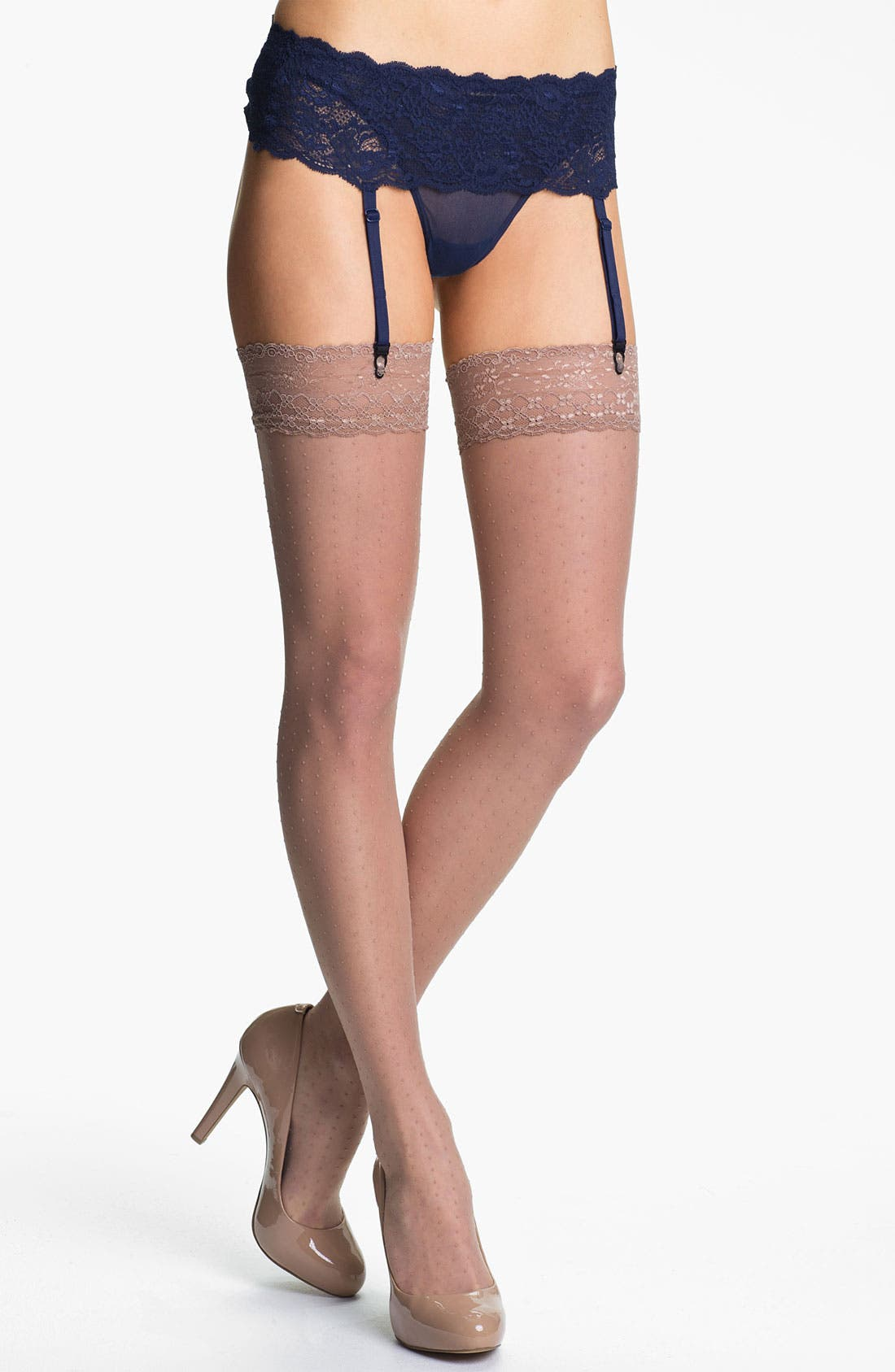 Main Image - Oroblu 'Bas Adelle' Thigh High Stockings