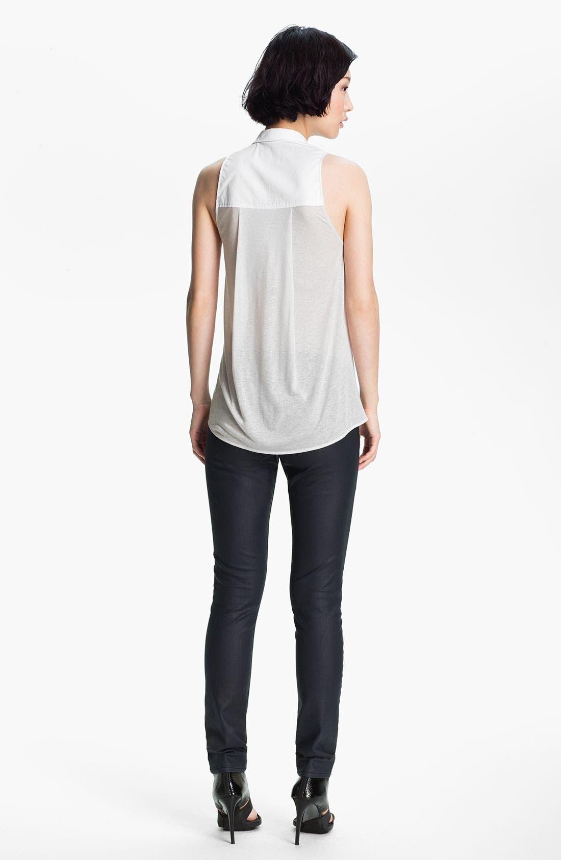 Alternate Image 2  - HELMUT Helmut Lang Sleeveless Poplin Shirt
