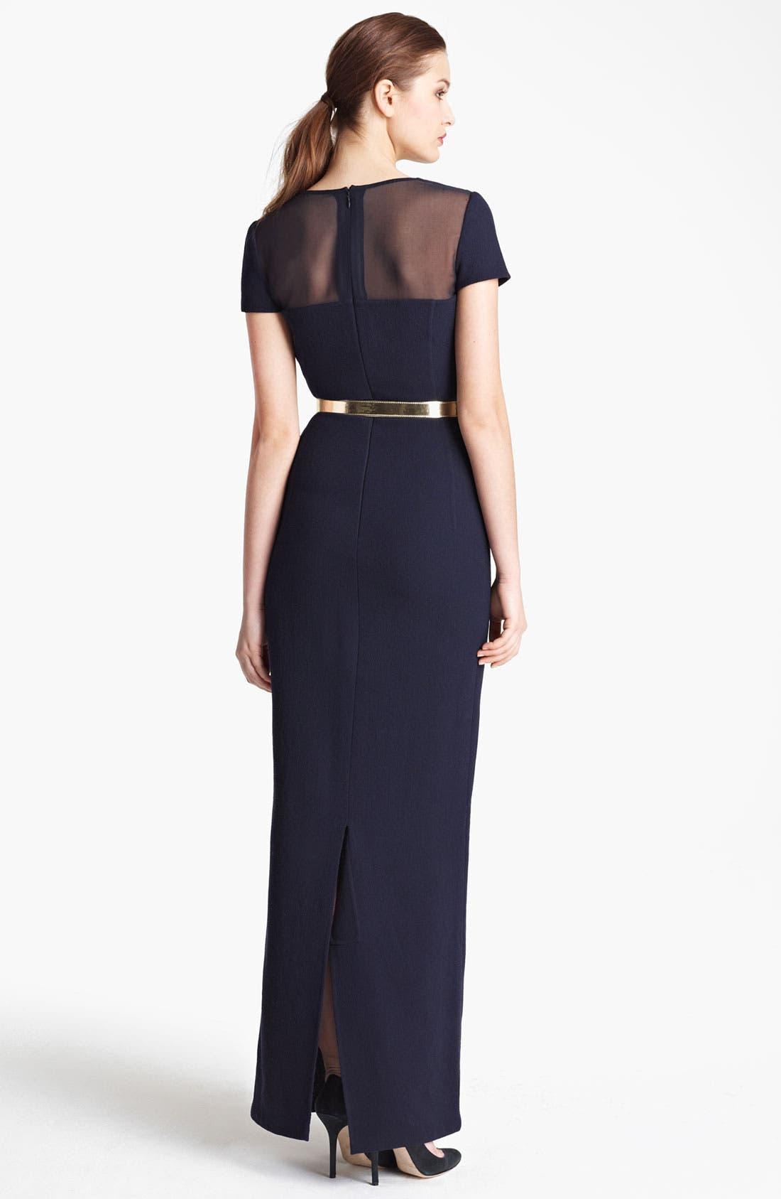 Alternate Image 2  - Oscar de la Renta Illusion Bodice Gown