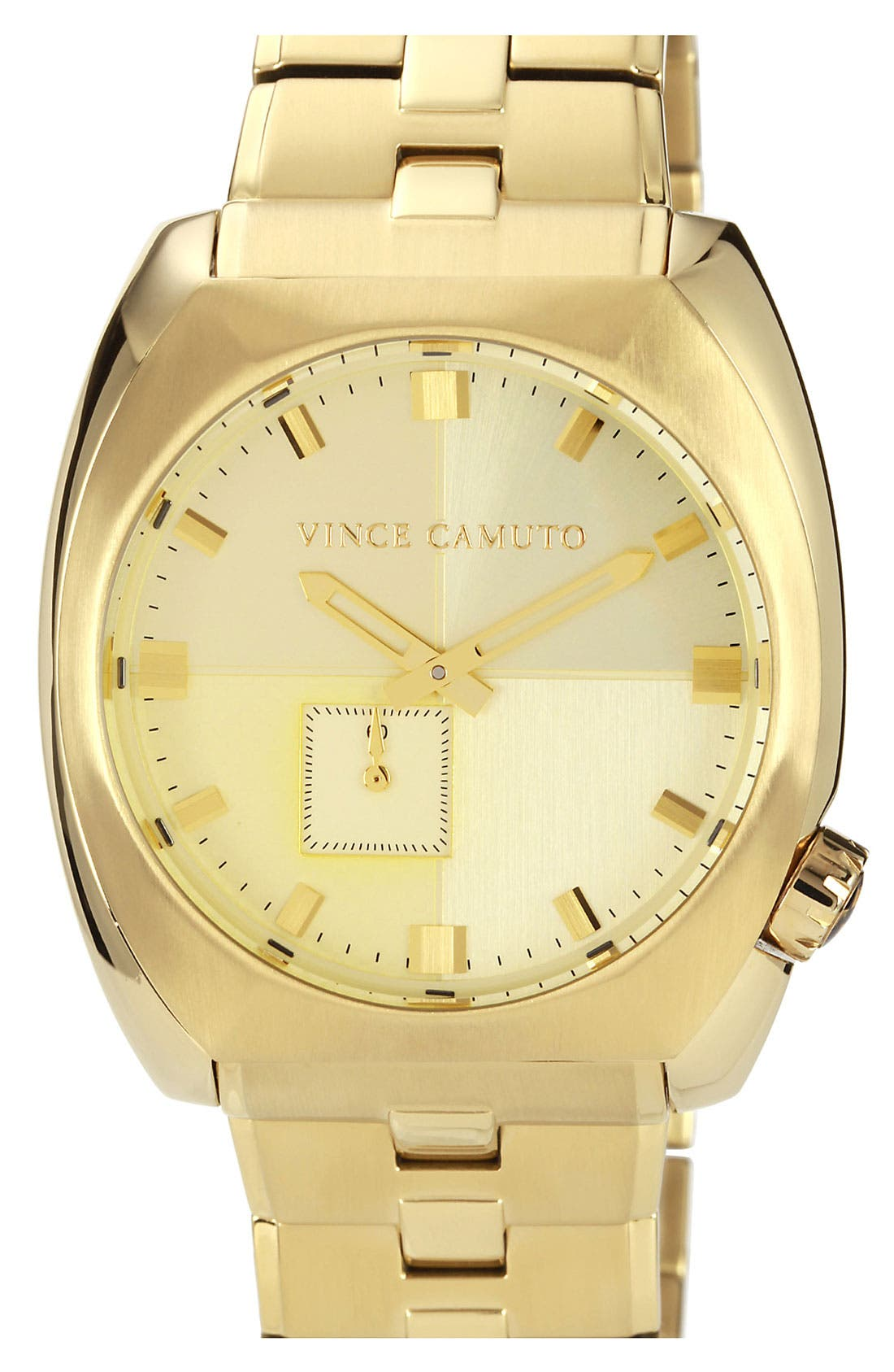 Alternate Image 1 Selected - Vince Camuto 'Cadet' Bracelet Watch, 43mm x 48mm