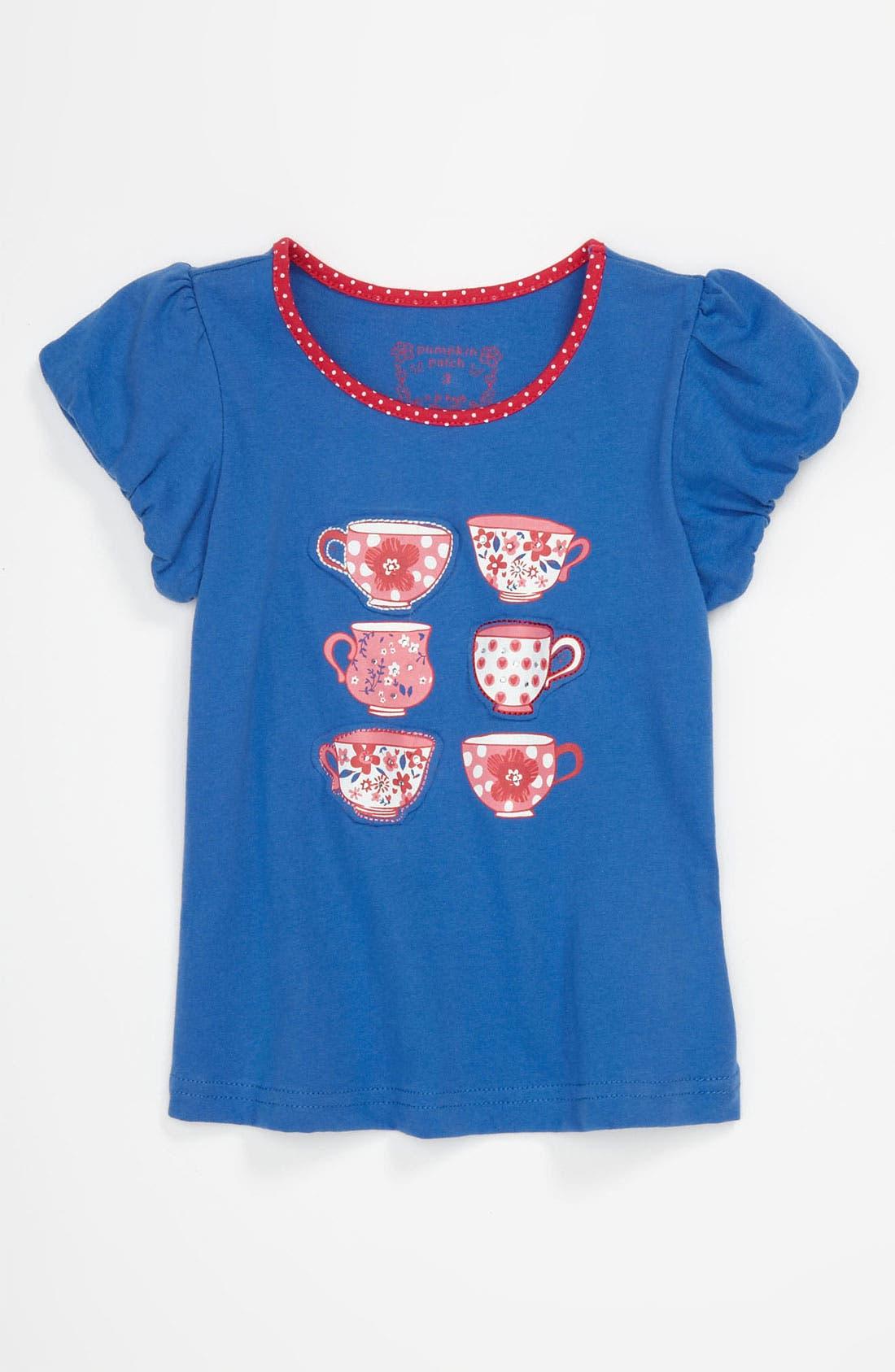 Alternate Image 1 Selected - Pumpkin Patch 'Teacup' Shirt (Toddler)