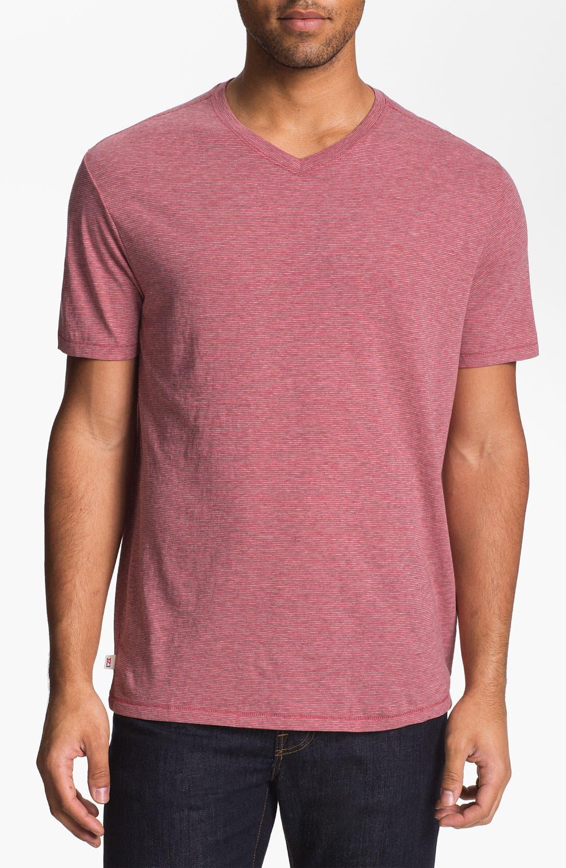 Alternate Image 1 Selected - Cutter & Buck 'Vashon' V-Neck T-Shirt (Big & Tall)