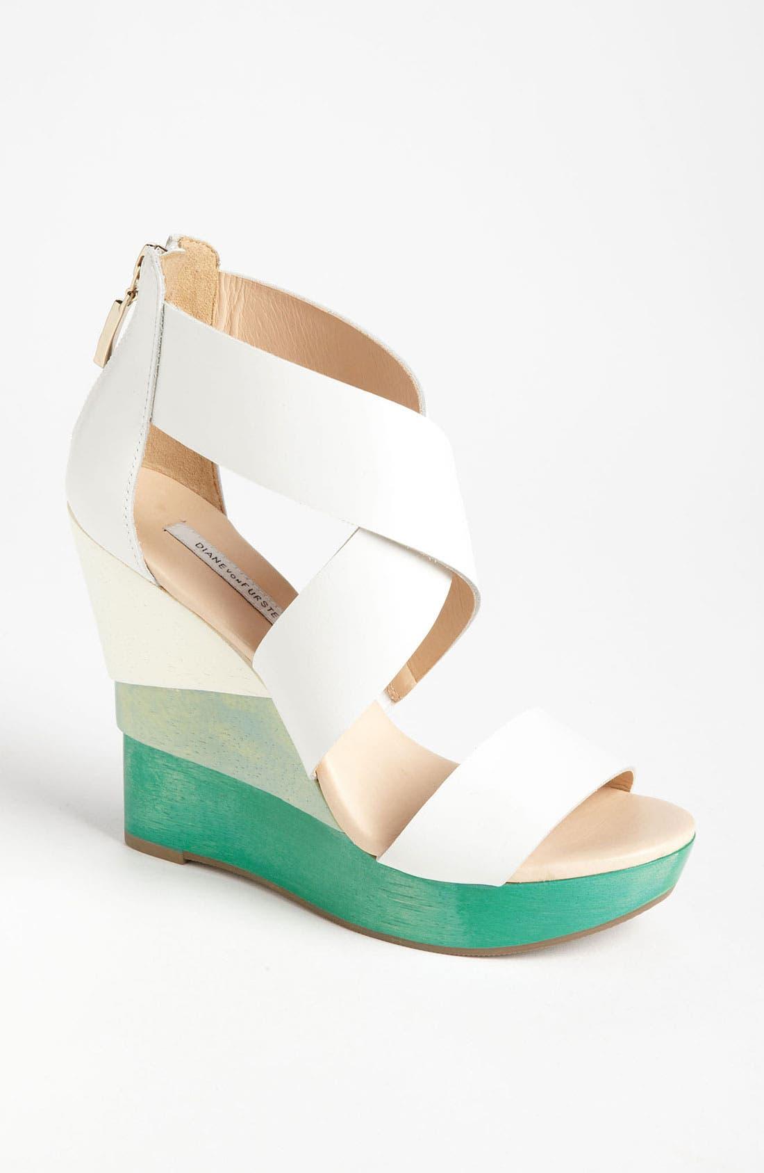 Alternate Image 1 Selected - Diane von Furstenberg 'Opal' Wedge Sandal