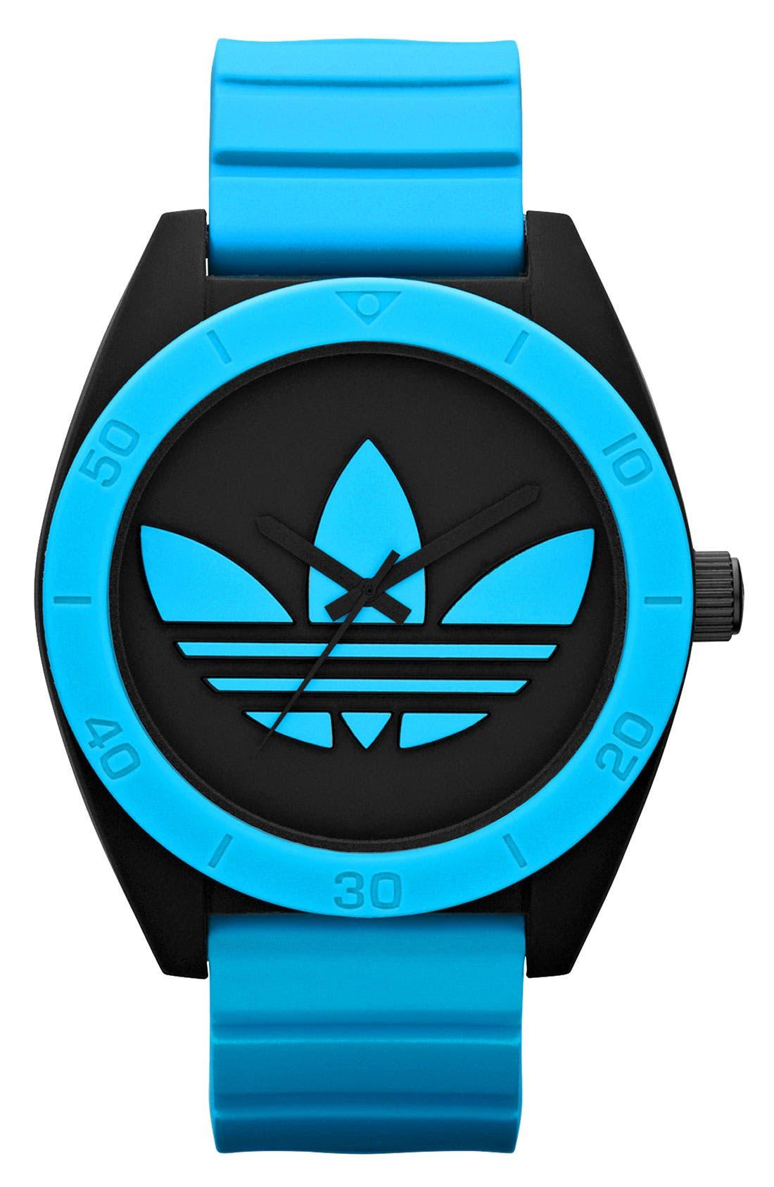 Alternate Image 1 Selected - adidas Originals 'Santiago XL' Neon Accent Watch, 50mm