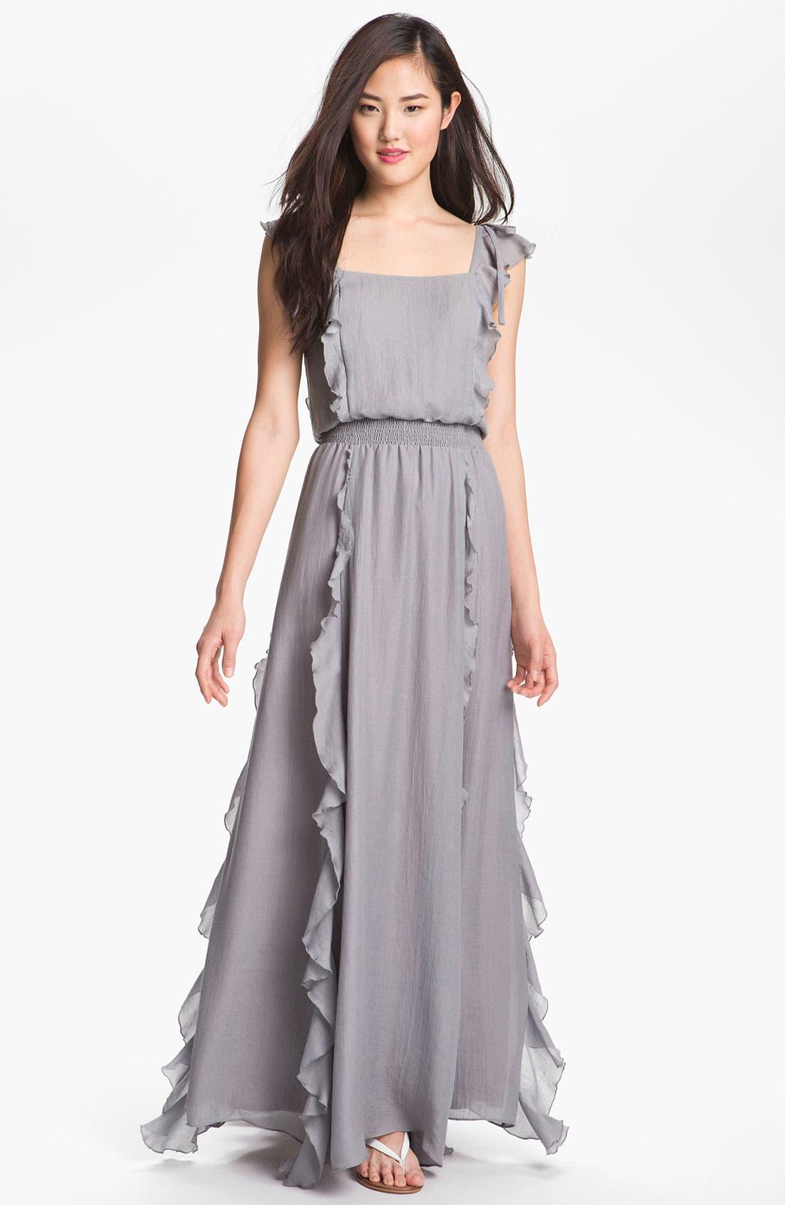 Alternate Image 1 Selected - Jessica Simpson Ruffled Maxi Dress