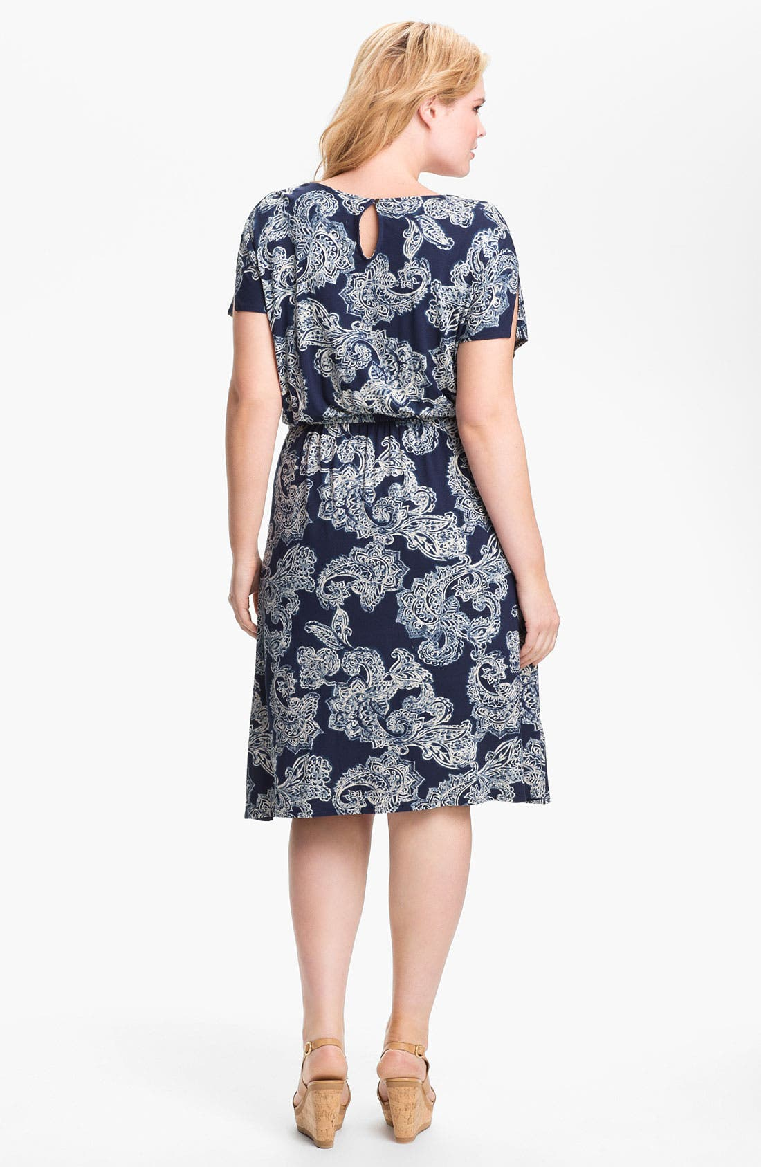 Alternate Image 2  - Lucky Brand Paisley Dress (Plus Size)