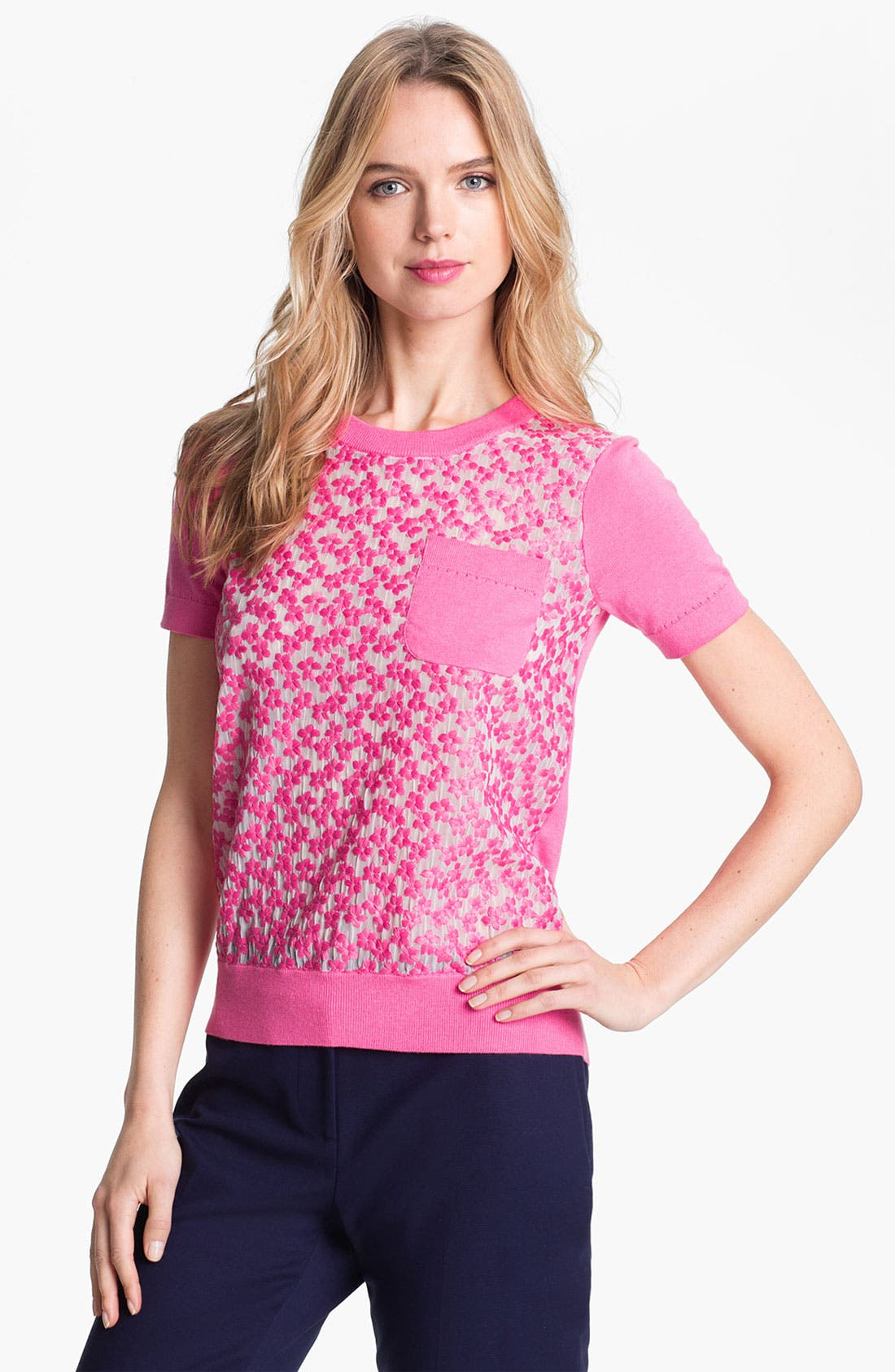 Main Image - kate spade new york 'mercy' silk blend sweater