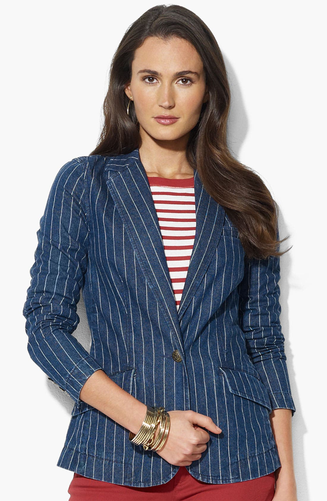Main Image - Lauren Ralph Lauren One Button Jacket (Petite)(Online Only)