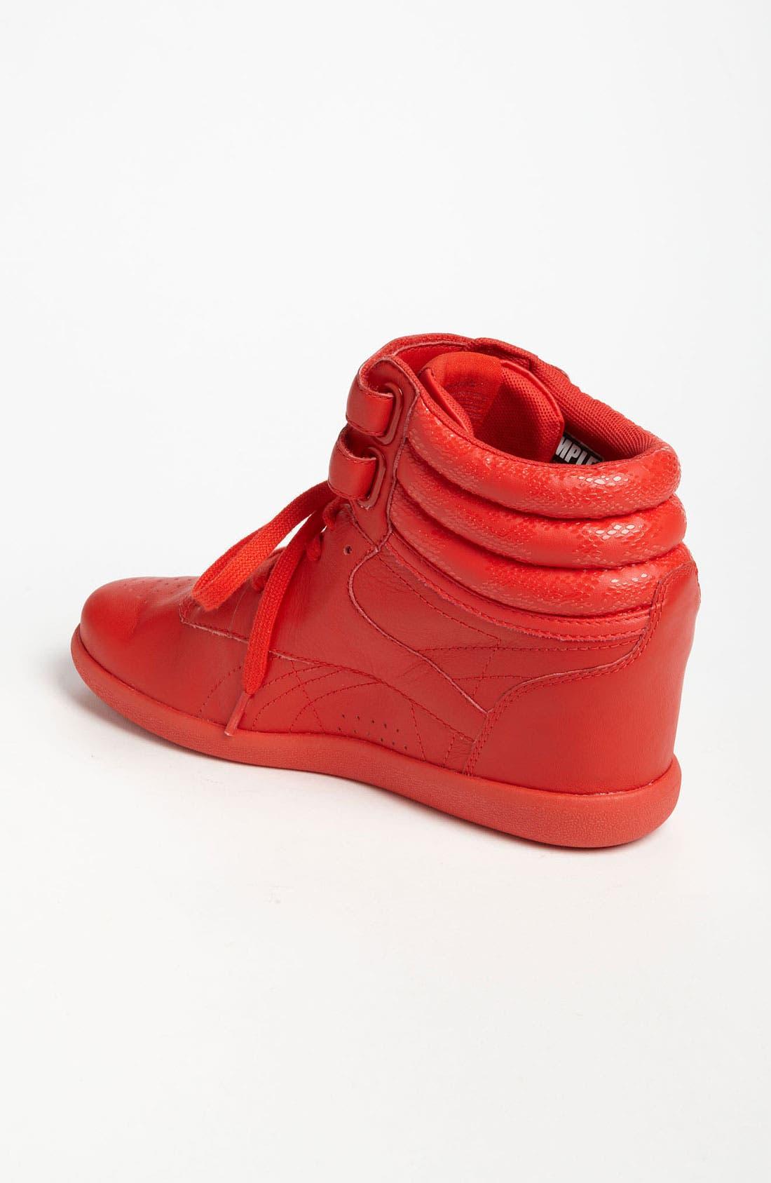 Alternate Image 2  - Reebok 'Freestyle Hi Wedge A. Keys' Sneaker (Women)