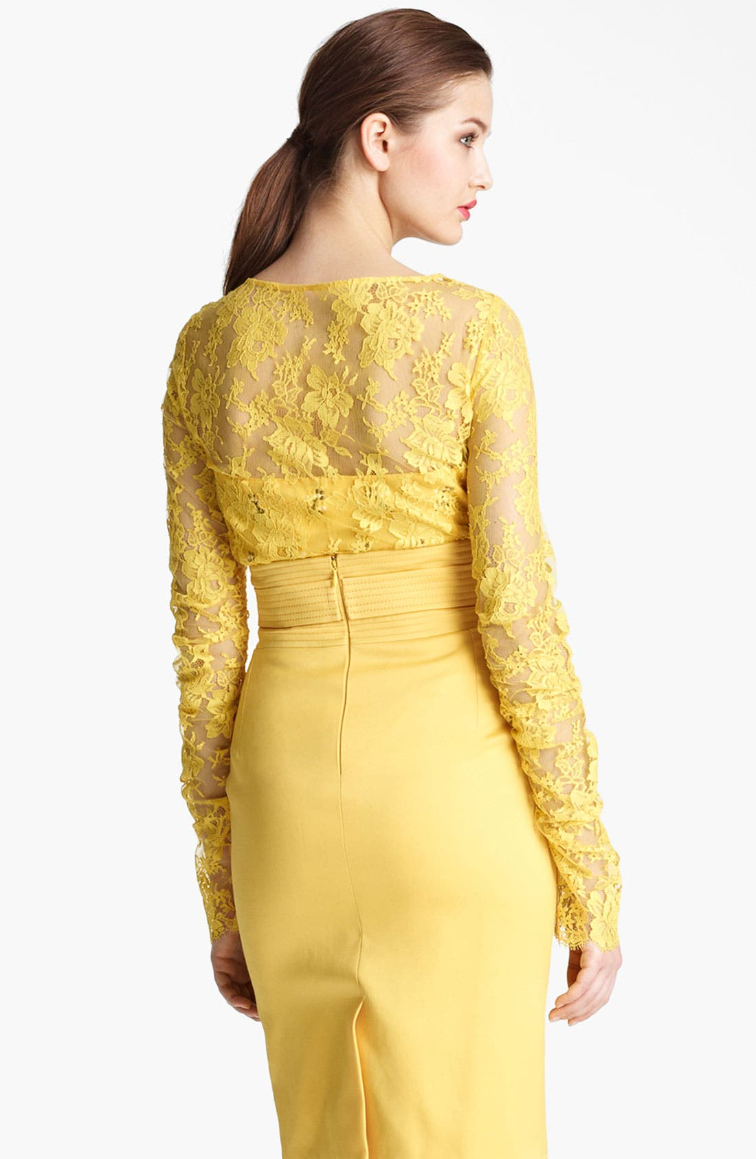 Alternate Image 3  - Oscar de la Renta Chantilly Lace Overlay Blouse