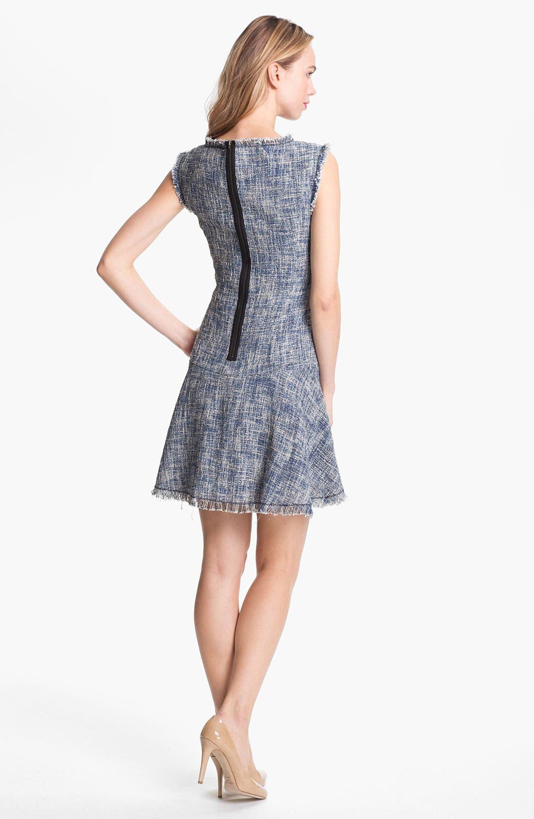 Alternate Image 2  - Rebecca Taylor Woven Fit & Flare Dress