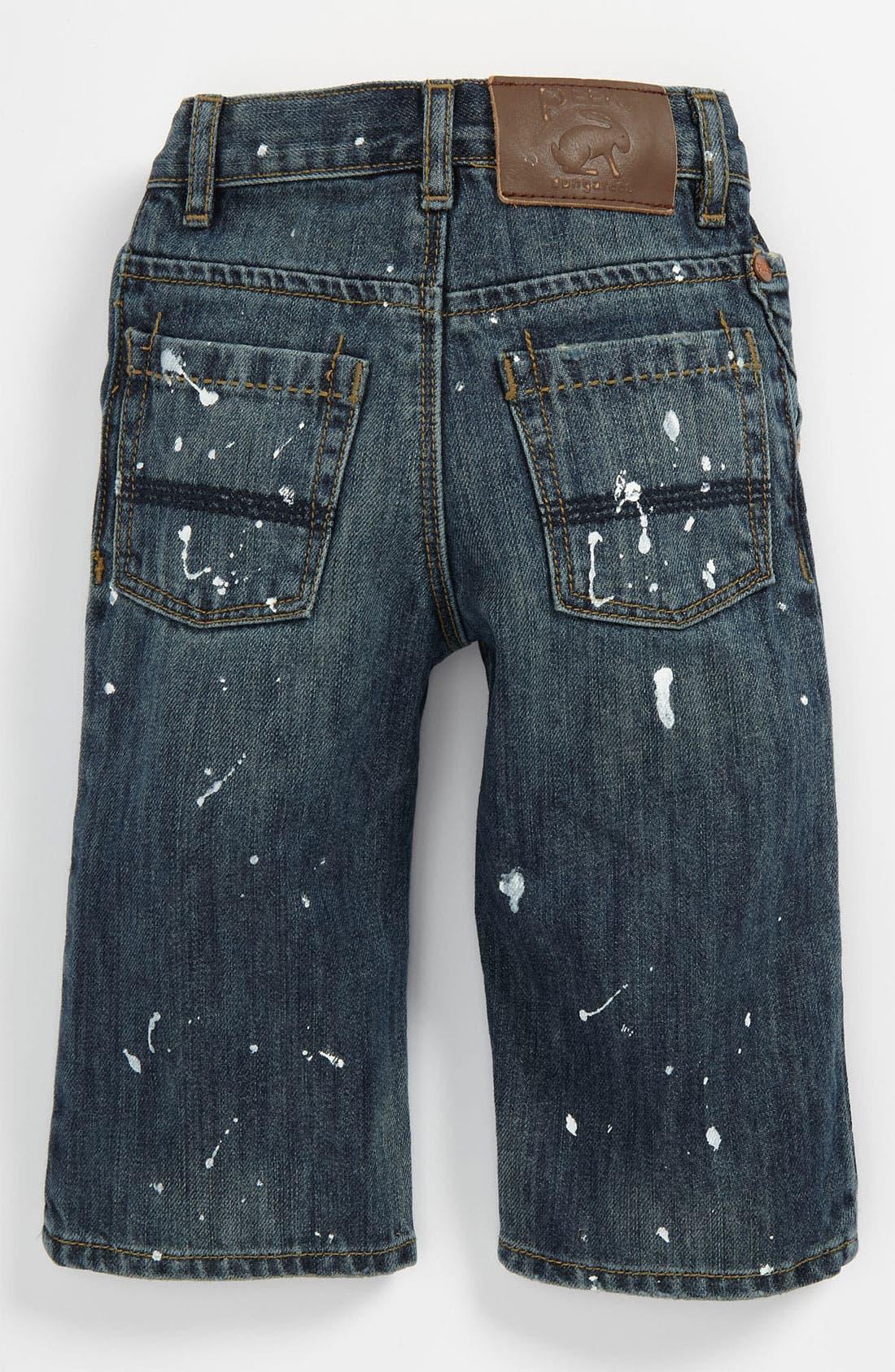 Main Image - Peek 'Peanut' Paint Splatter Jeans (Baby)