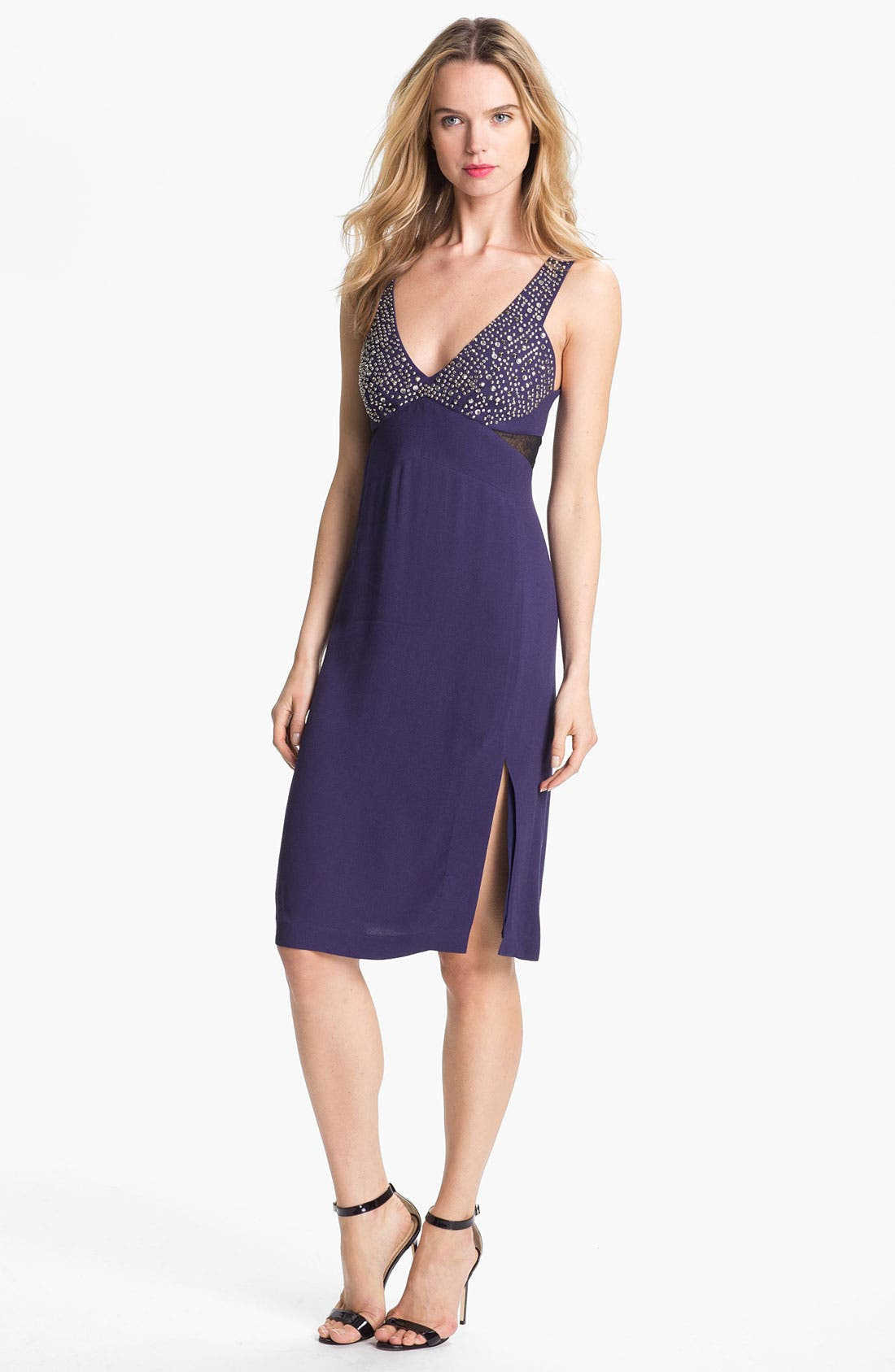Alternate Image 1 Selected - Rebecca Taylor Studded A-Line Dress