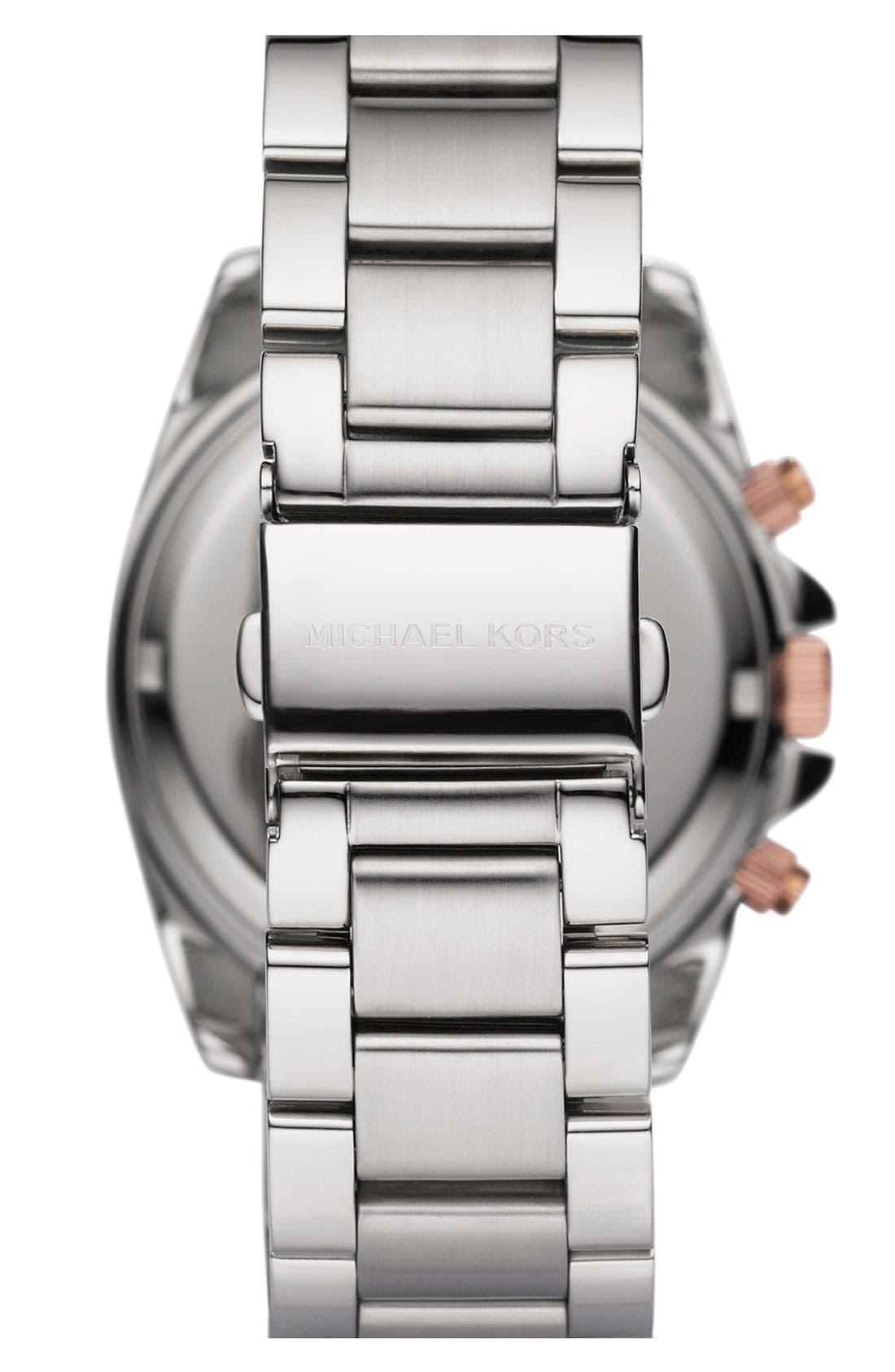 Alternate Image 2  - Michael Kors 'Blair' Crystal Chronograph Watch, 39mm