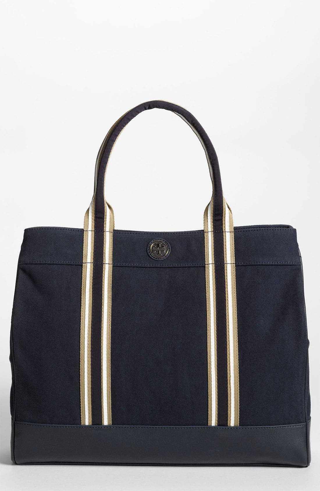 Main Image - Tory Burch Stripe Canvas Tote, Large