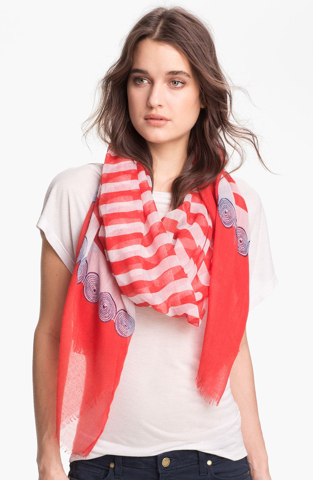 Alternate Image 1 Selected - Nine West 'Nautical Stripe' Scarf