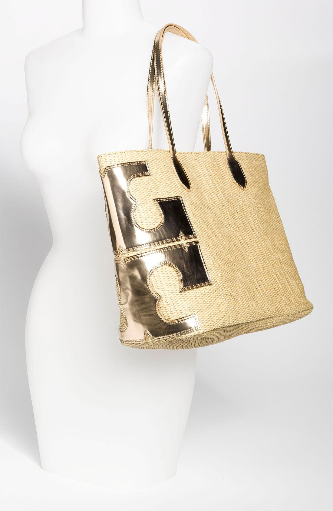 Alternate Image 2  - Tory Burch 'Metallic Stacked T' Tote, Large