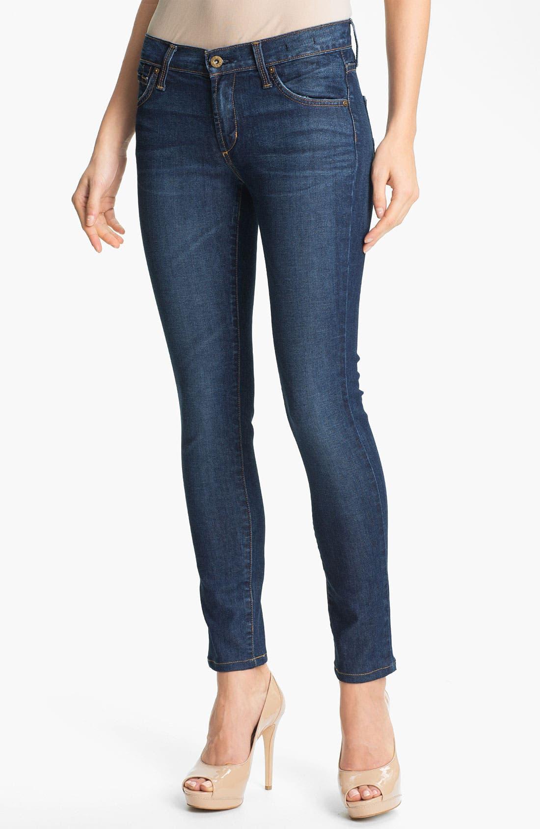 Alternate Image 1 Selected - James Jeans Skinny Stretch Jeans (Havana) (Petite) (Online Only)