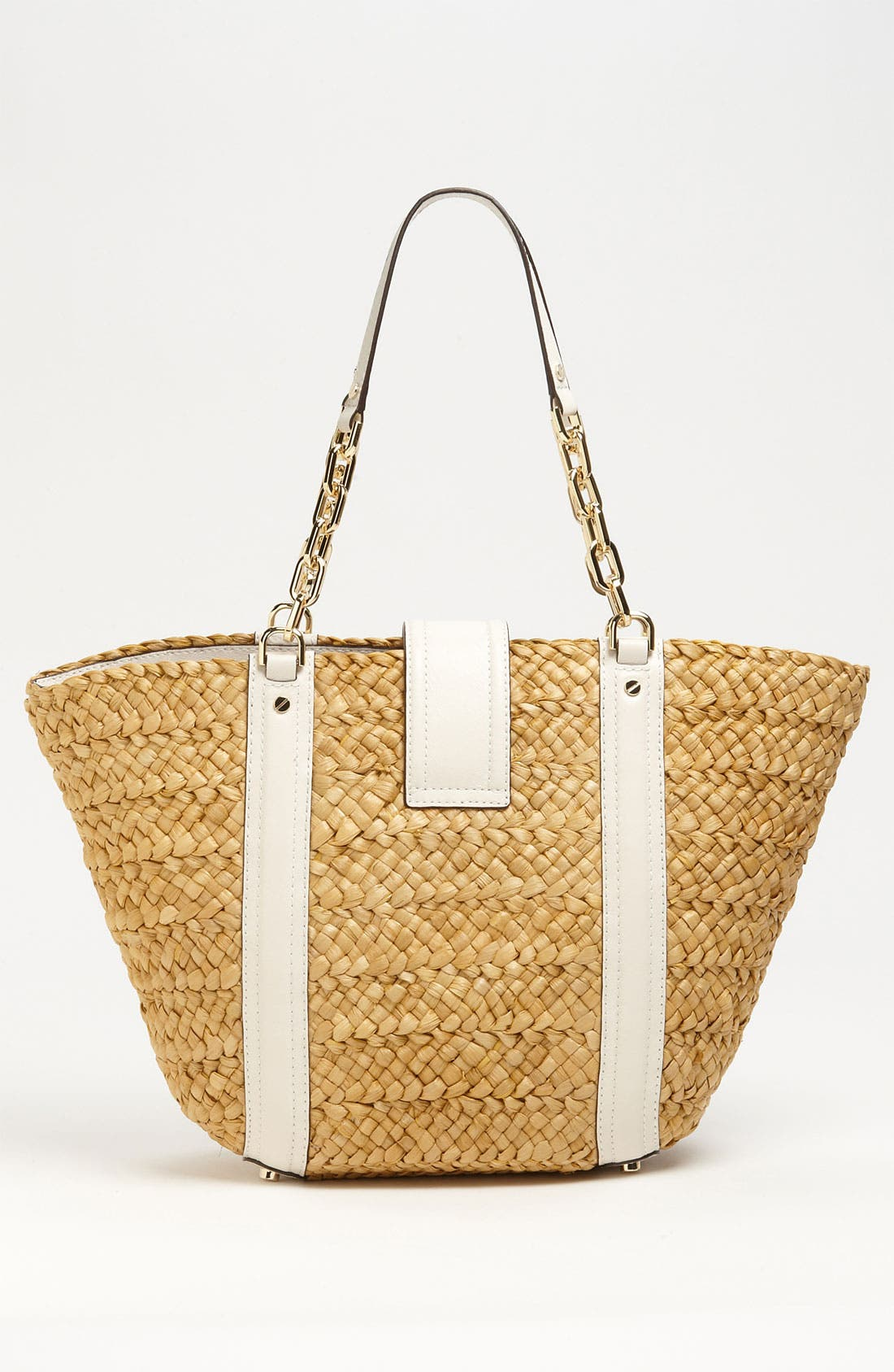 Alternate Image 4  - MICHAEL Michael Kors 'Deneuve - Large' Straw Tote